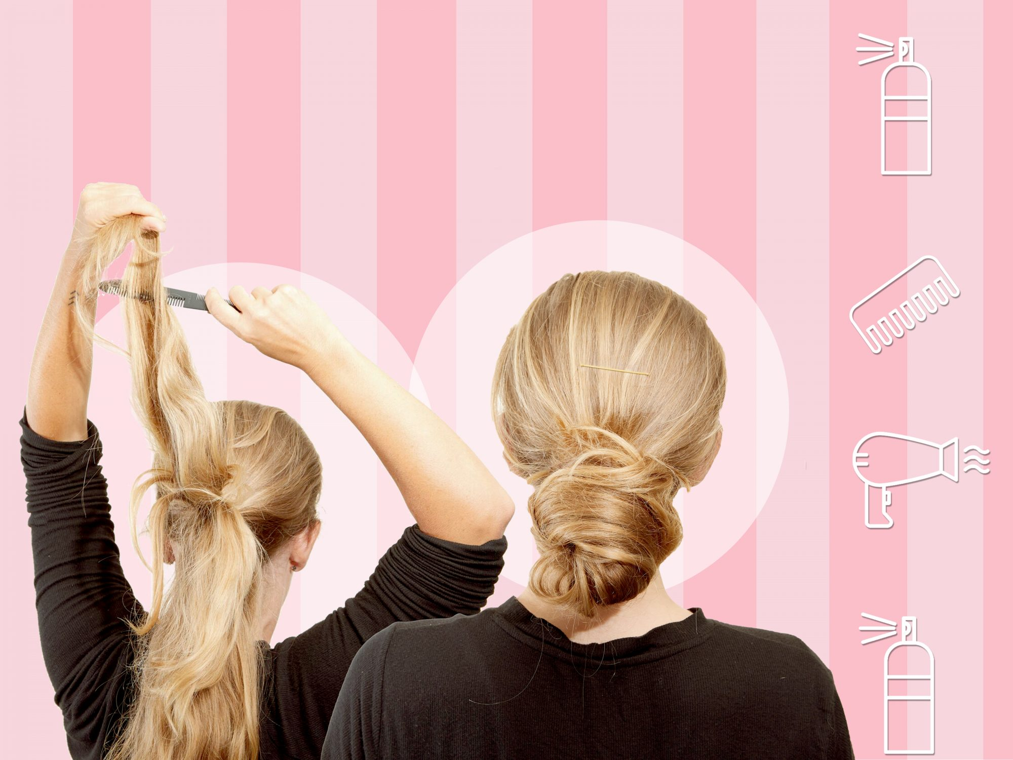 DIY bridesmaid hairstyles: updo and hair-down looks for bridesmaids and weddings