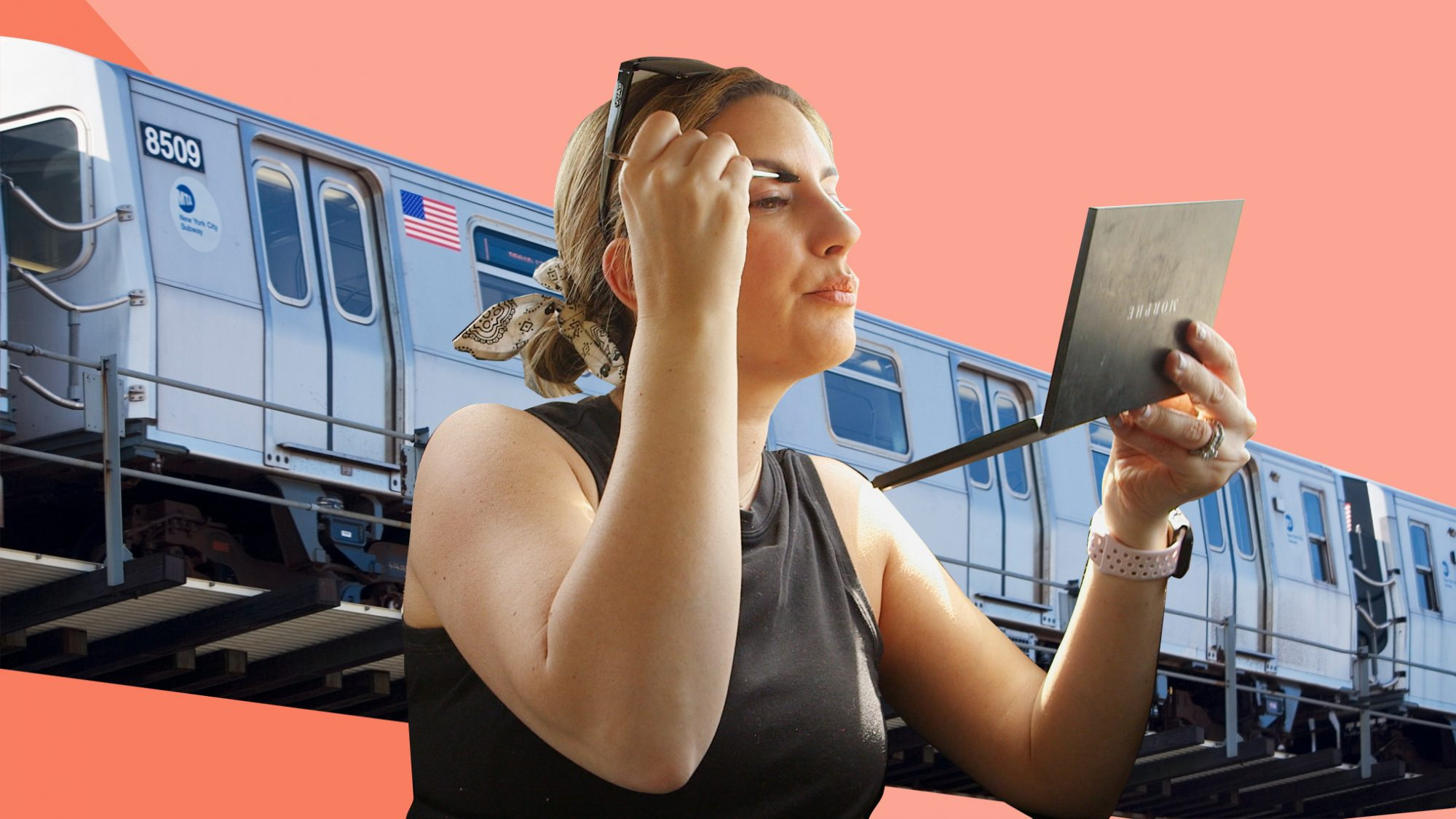 Beauty routine for commuters