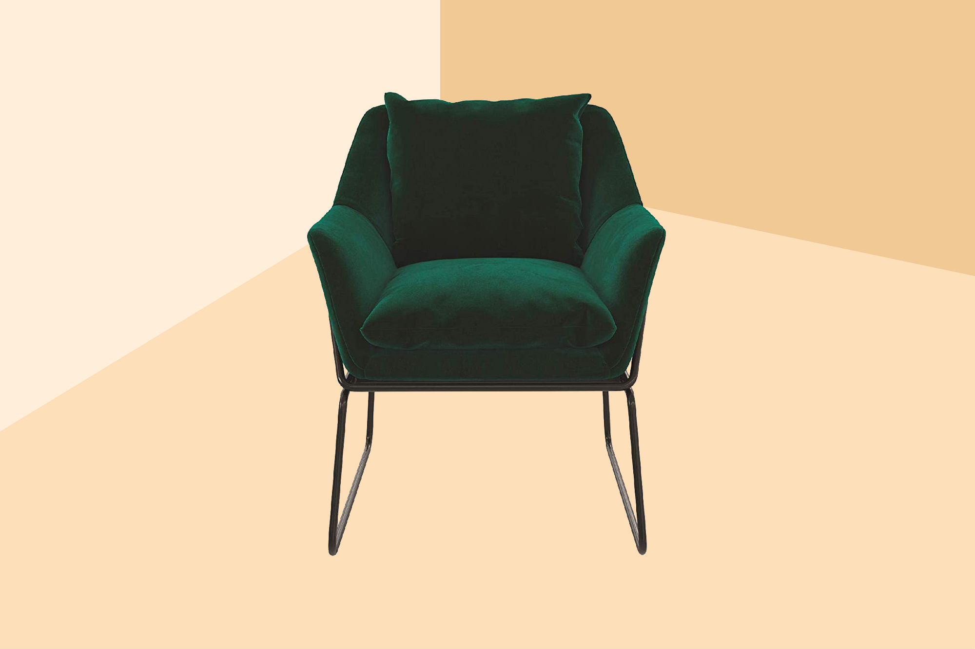 Novogratz Alivia Accent Chair, Green Velvet