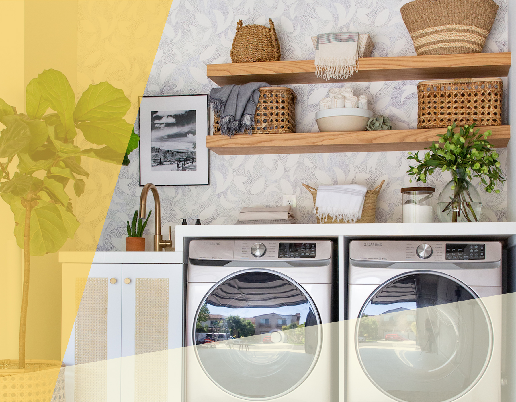 Laundry Room Makeover, Reveal