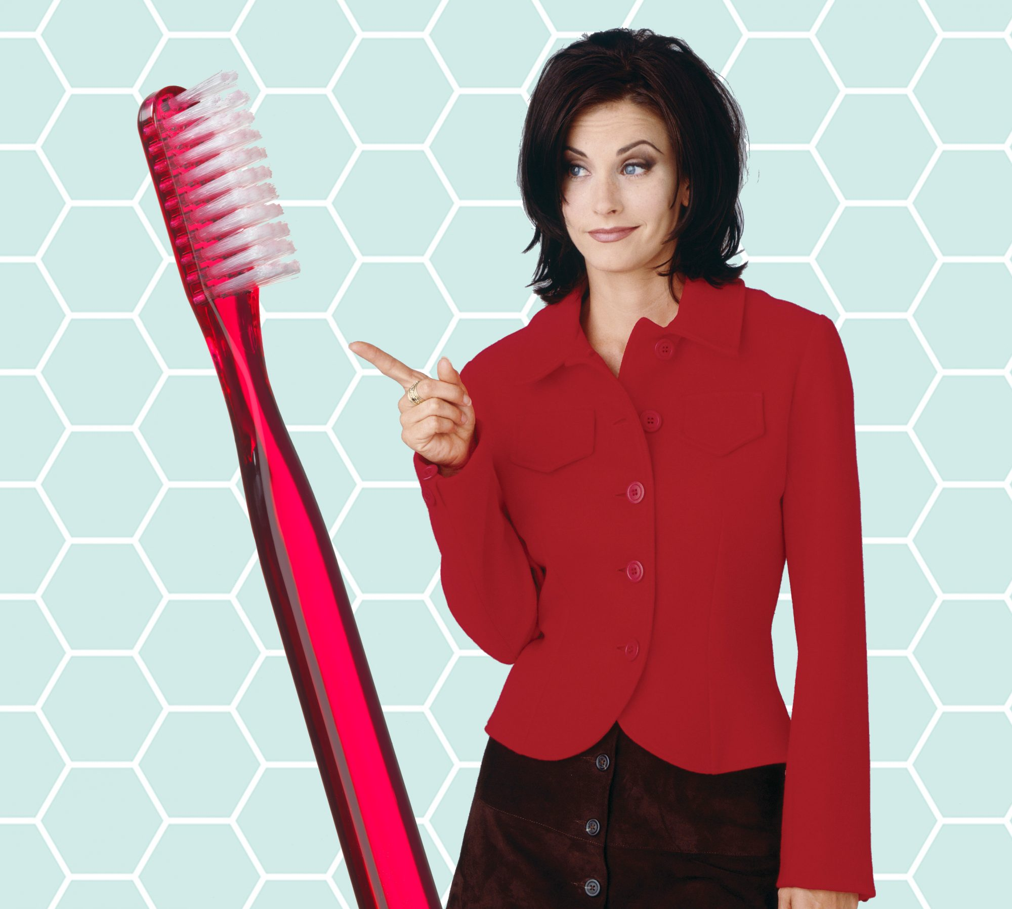 Monica Geller and toothbrush: genius cleaning hacks