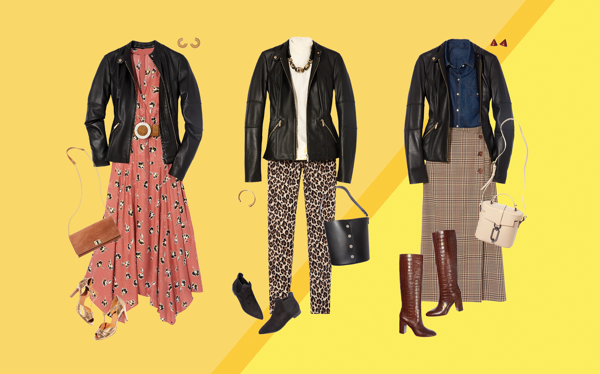 3 Fresh Ways to Wear a Leather Jacket for Fall