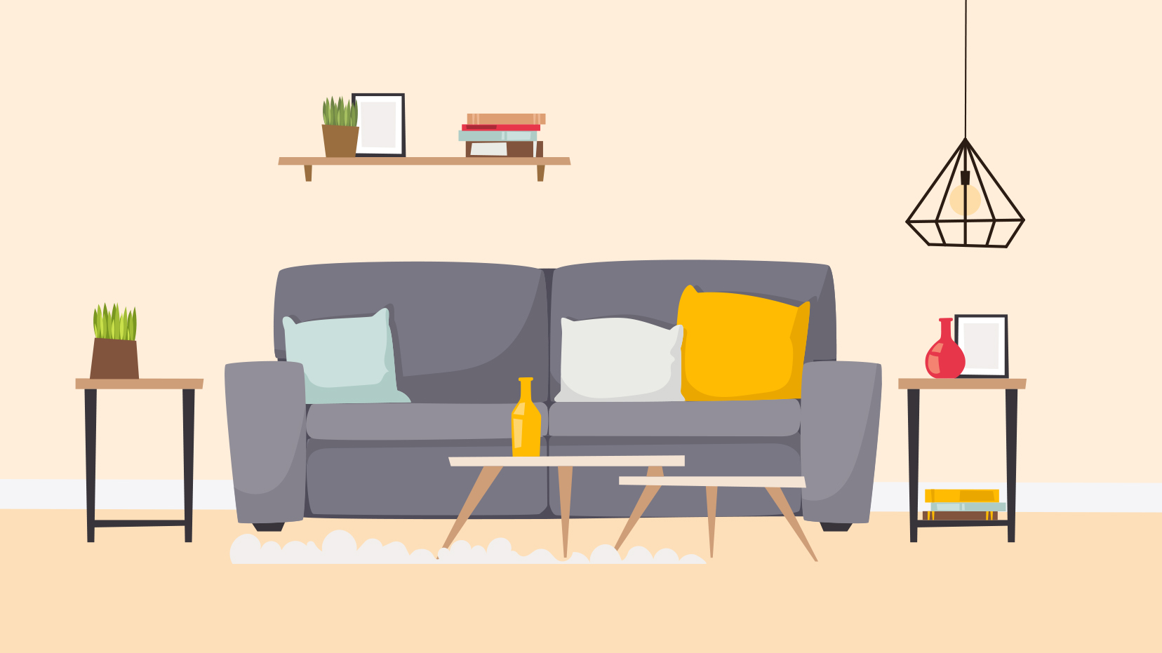 The $20 Trick to Transforming Your Living Room Sofa