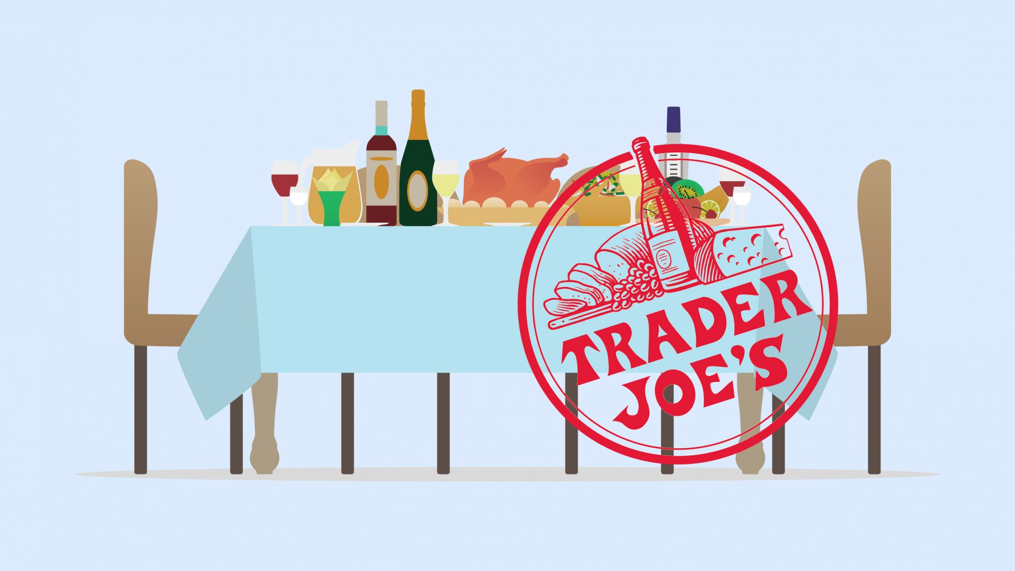how to throw a Trader Joe's dinner party on a budget