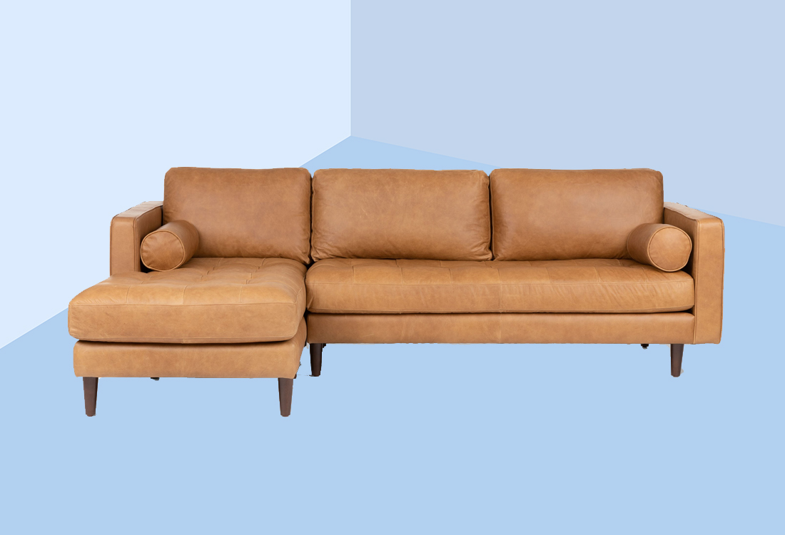 "I Never Thought I Would Be a ""Leather Sofa Person""—But It's the Secret to a Cleaner Living Room"