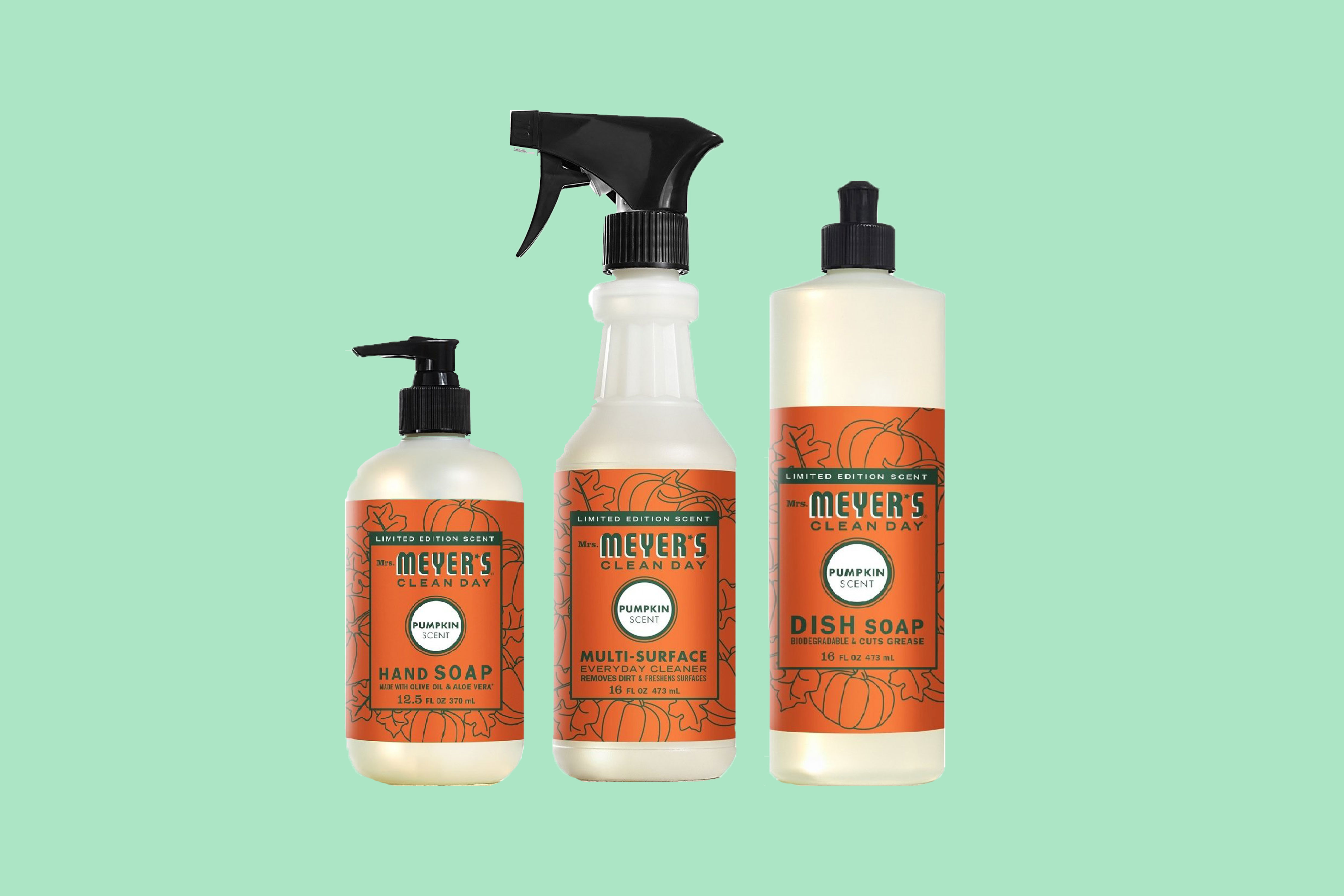 Mrs. Meyers Fall and Pumpkin Cleaning Products