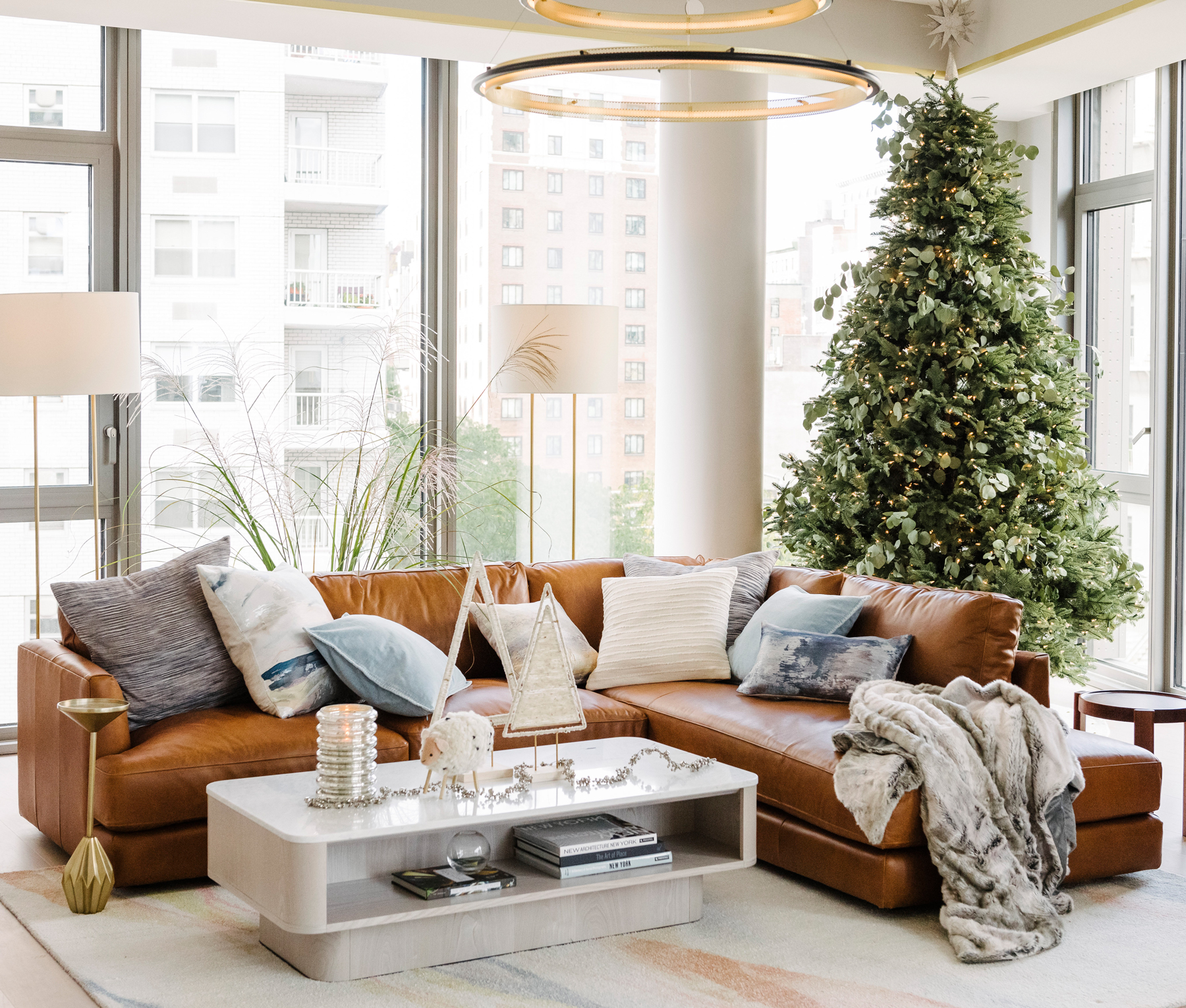 West Elm Holiday House decorating trends, ideas - Added foliage