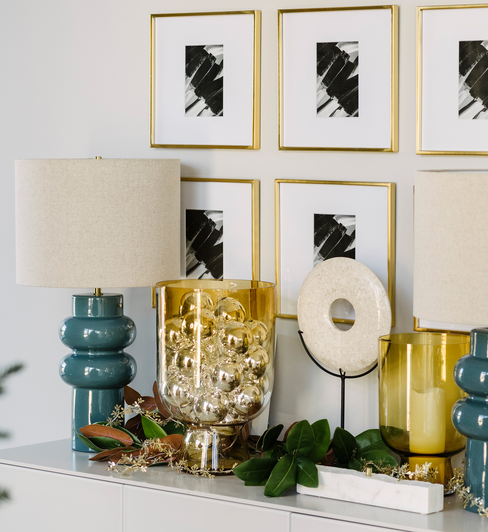 West Elm Holiday House decorating trends, ideas - Ornaments in bowl