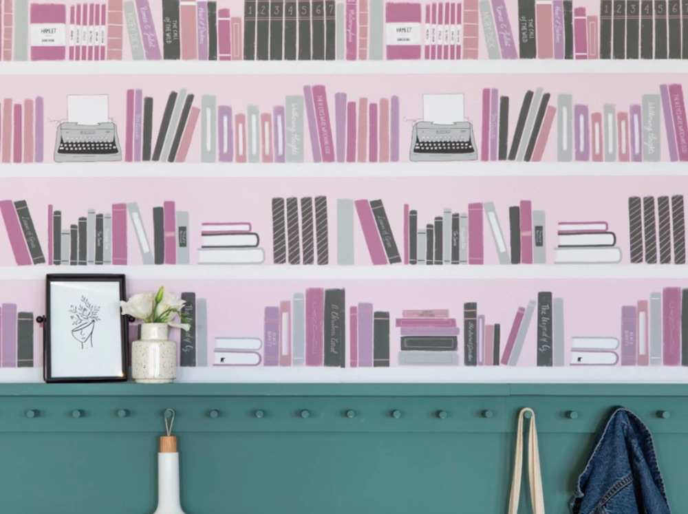 Chasing Paper Removable Wallpaper for Book Lovers