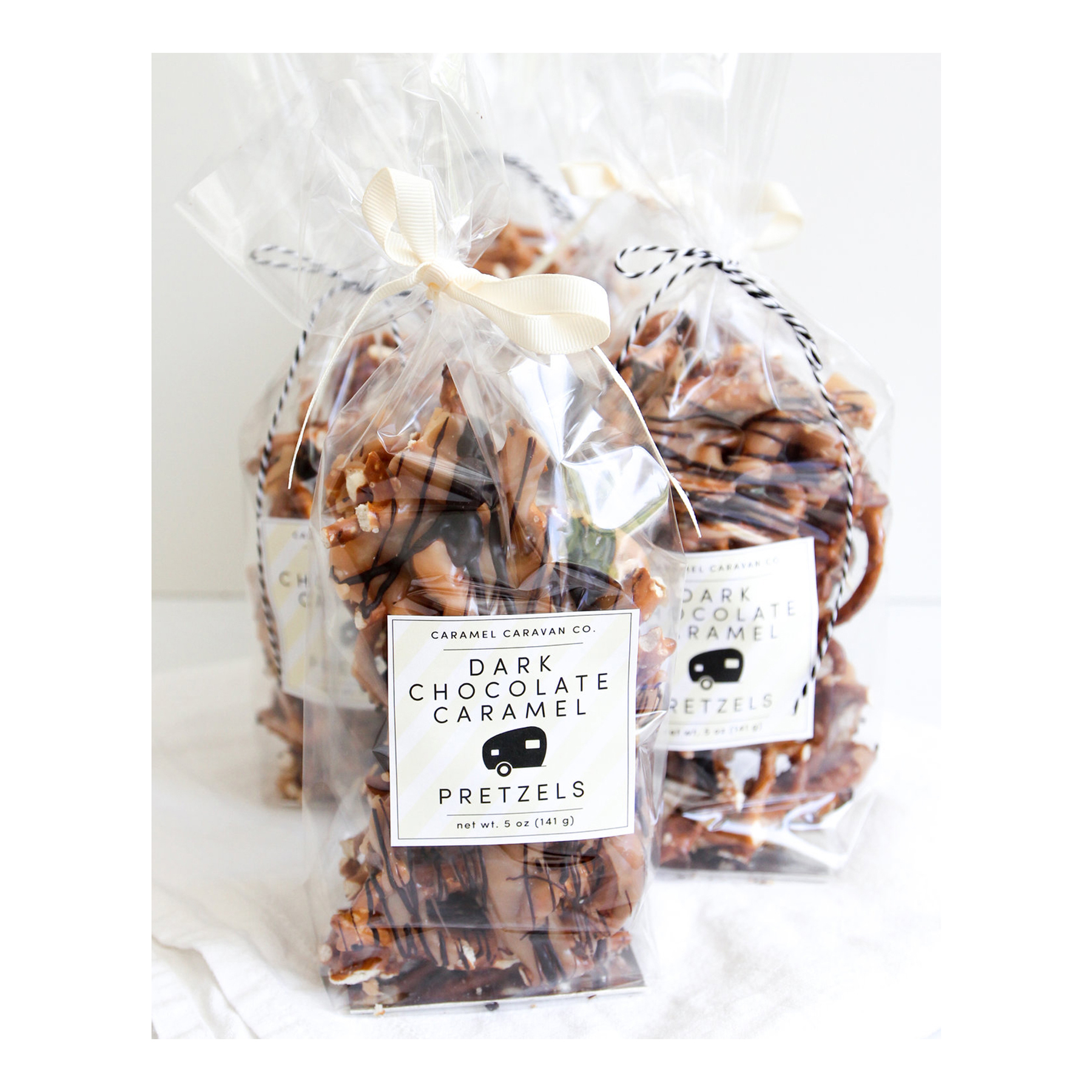 Cheap Christmas Gifts: Caramel Caravan dark chocolate caramel pretzels
