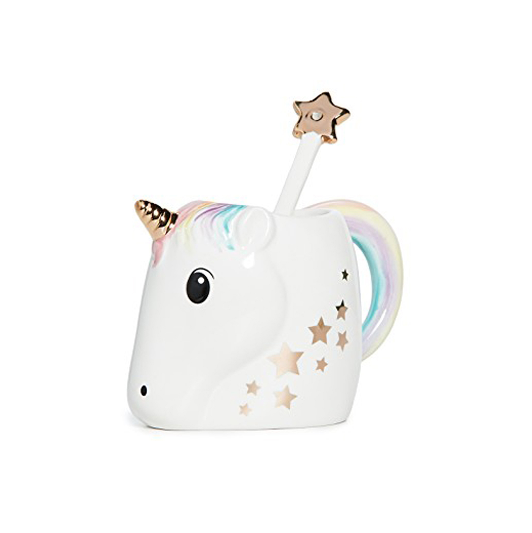 Cheap Christmas Gifts: Unicorn Mug with Star Stirrer