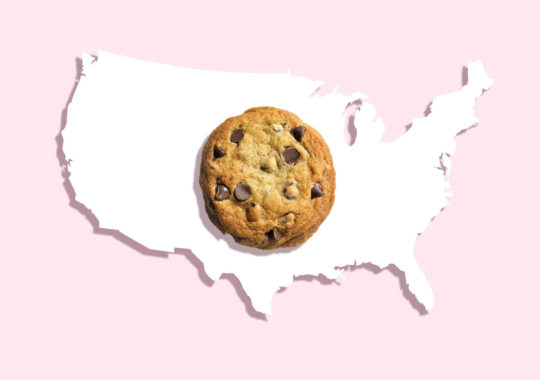 cookie on a map of the US: Most popular Christmas cookies, favorite cookies in America