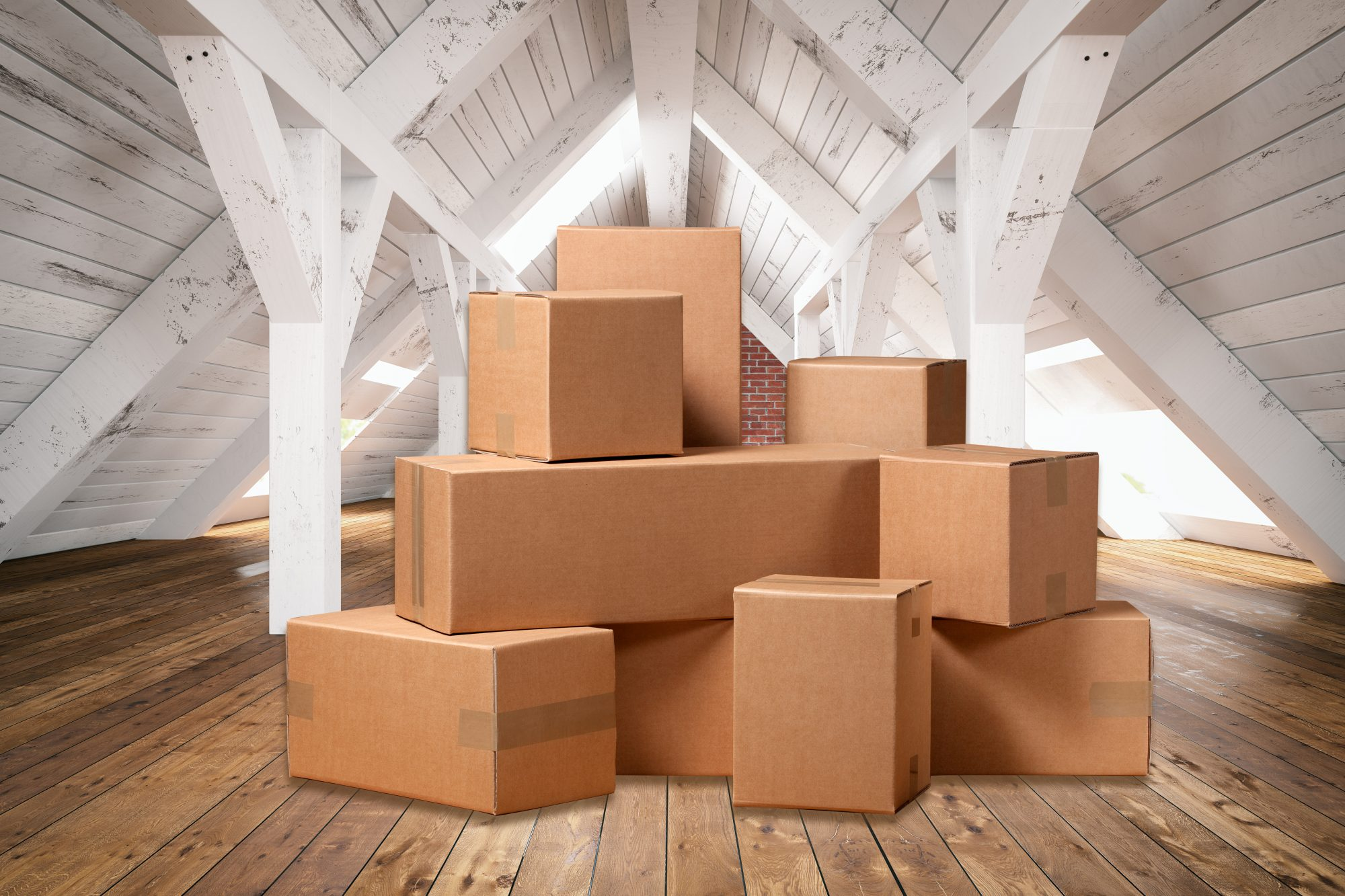7 Things You Should Never Store in the Attic, boxes in attic