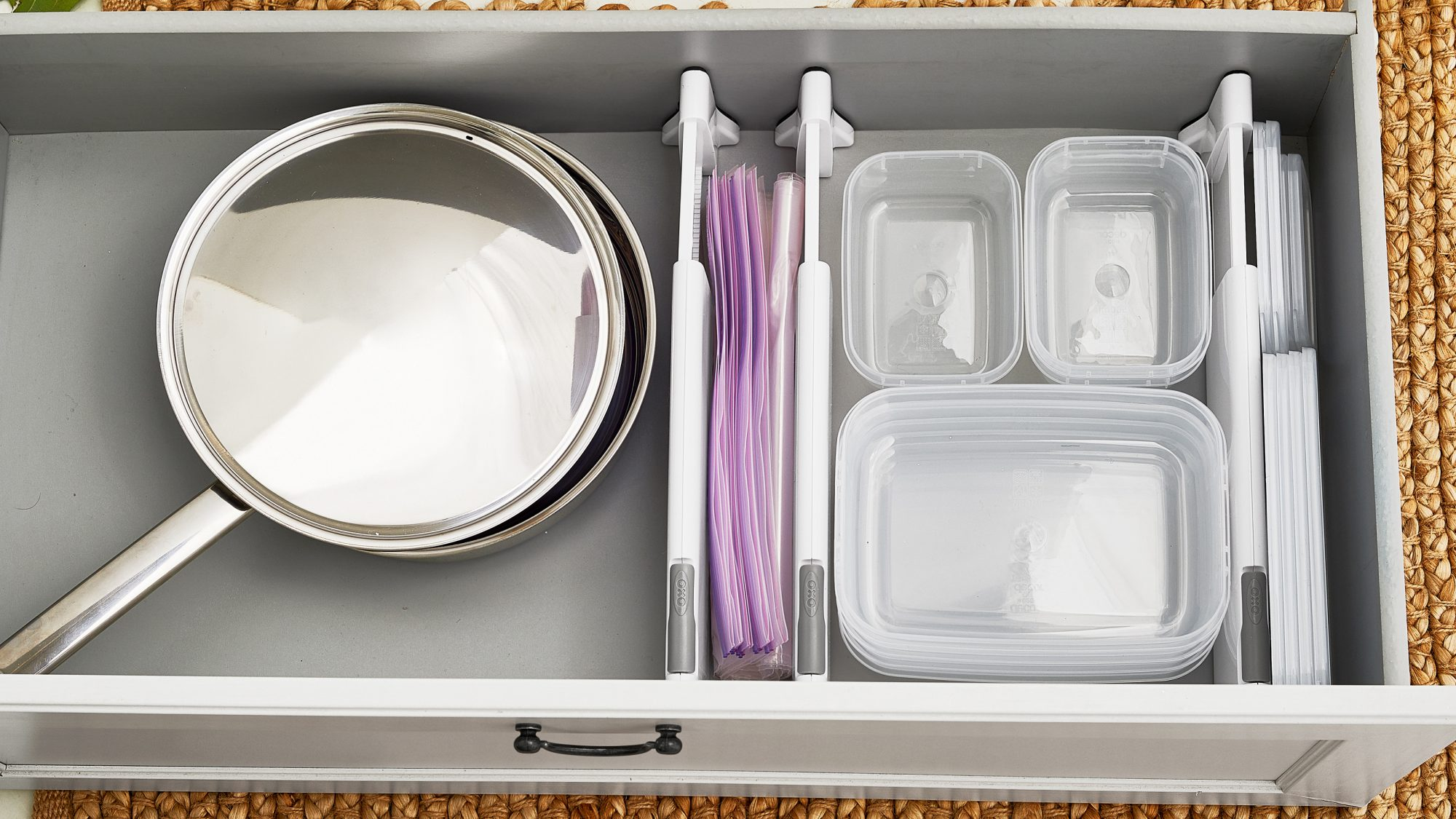 organized food storage drawer