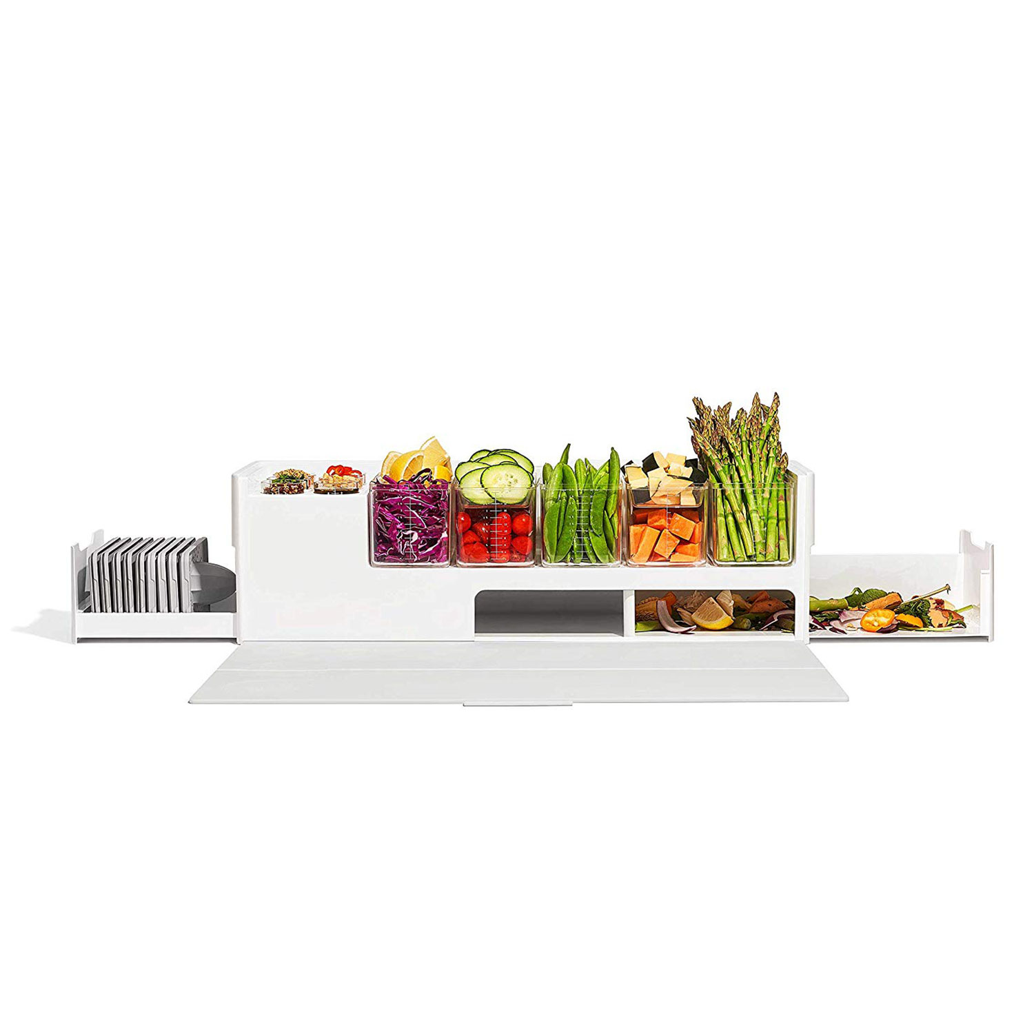 Prepdeck Meal Prep Station Cutting Board with Prep Containers