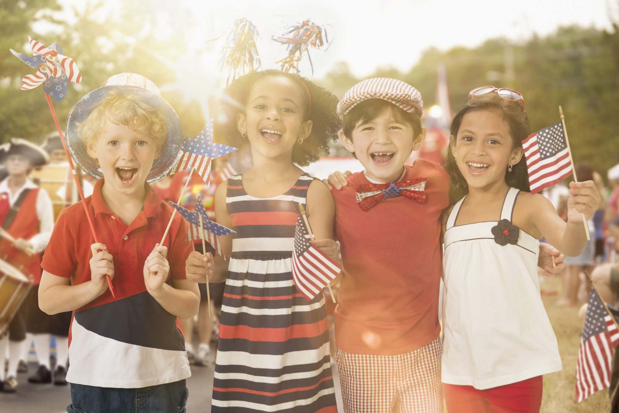 Kids Playing 4th of July Games