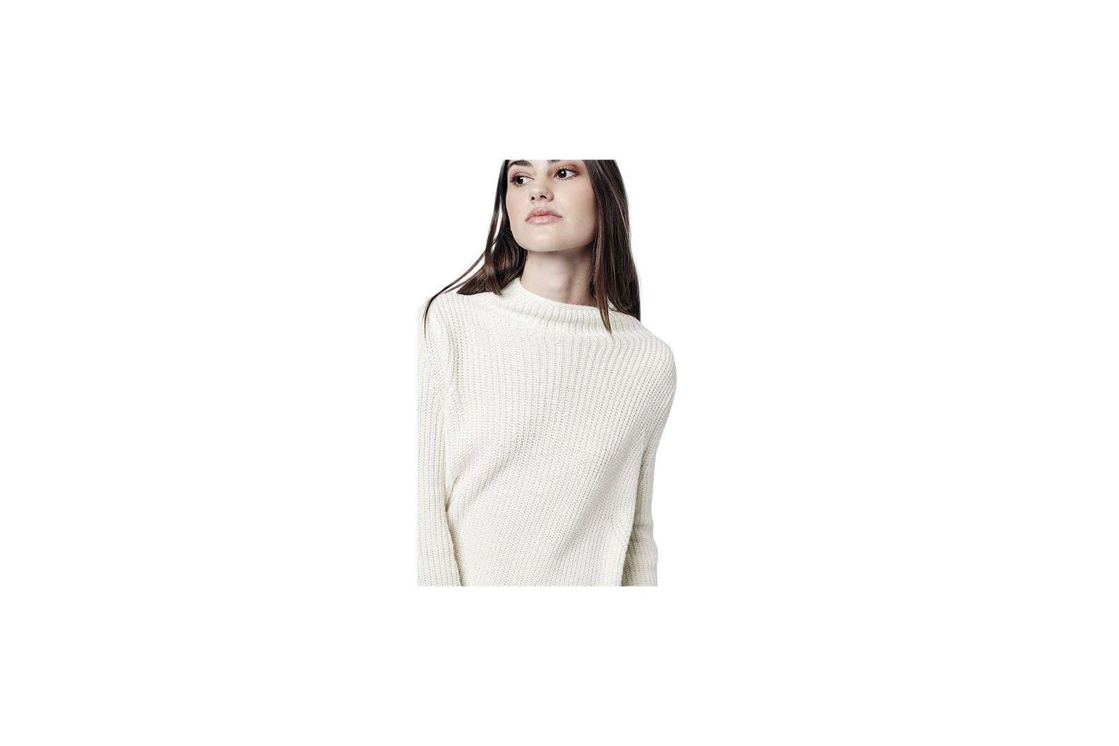 Topshop Ribbed Swing Sweater