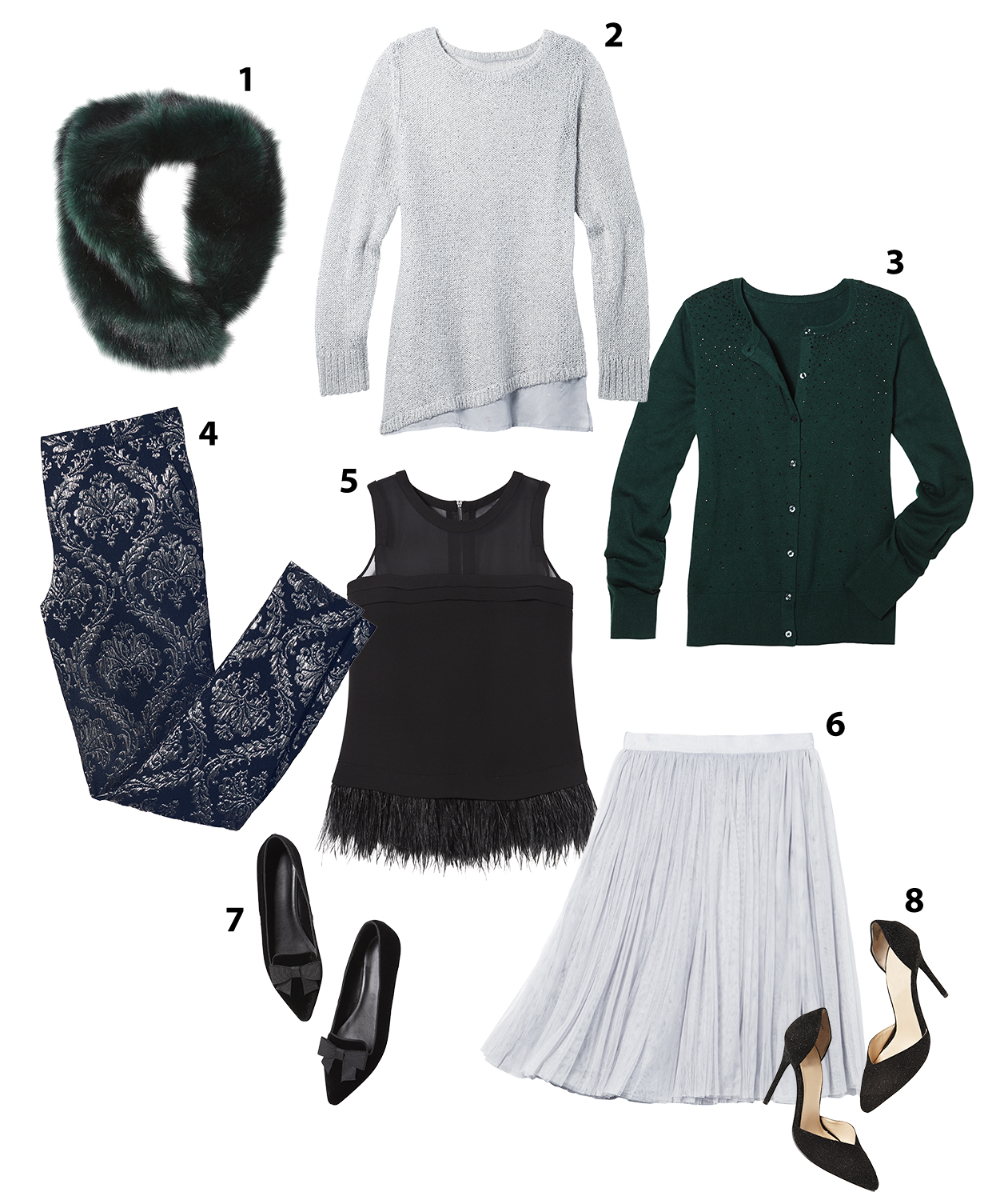 8 pieces for holiday wardrobe