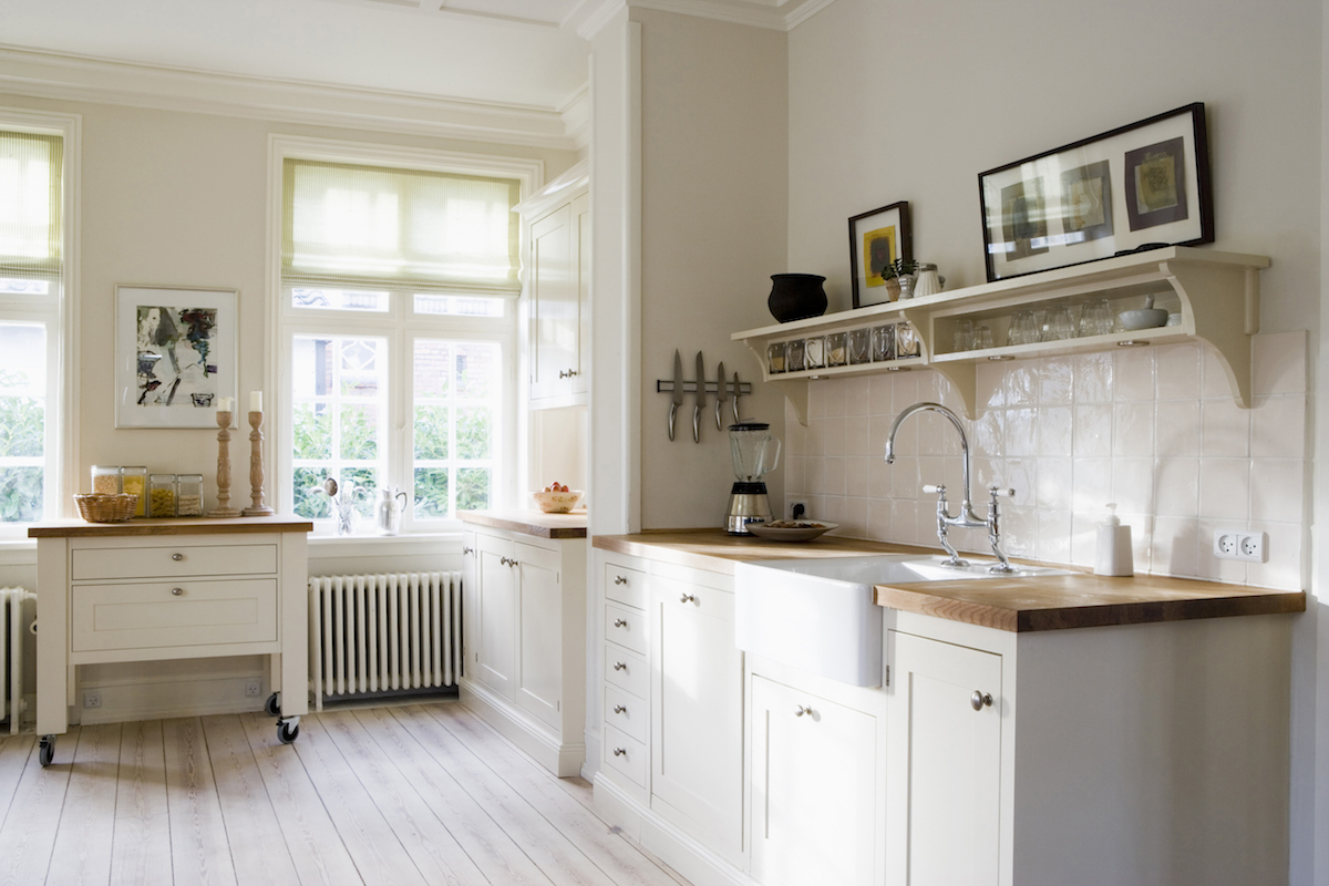 Organizing Kitchen Decluttering, beautiful kitchen with butcher block counters