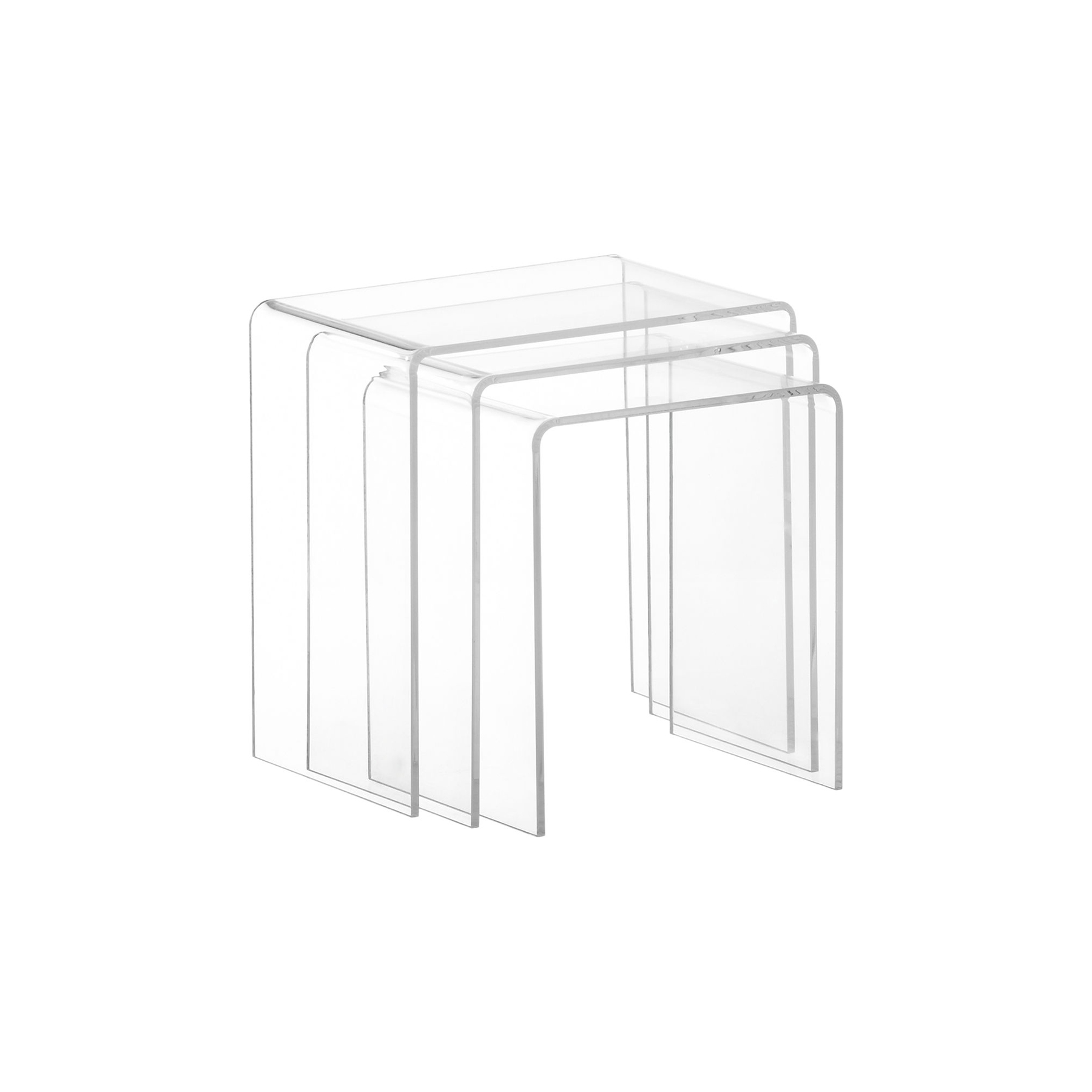 3-Piece Acrylic Nesting Table