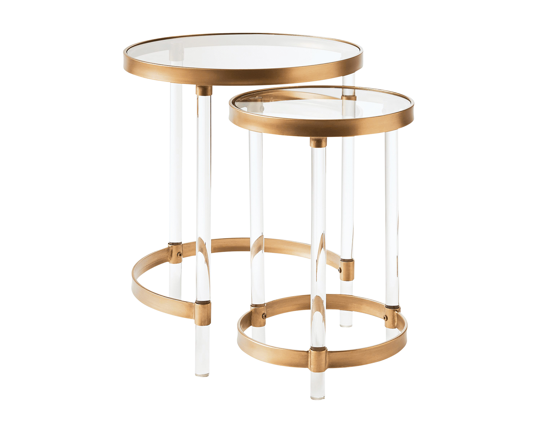 Round acrylic nesting tables
