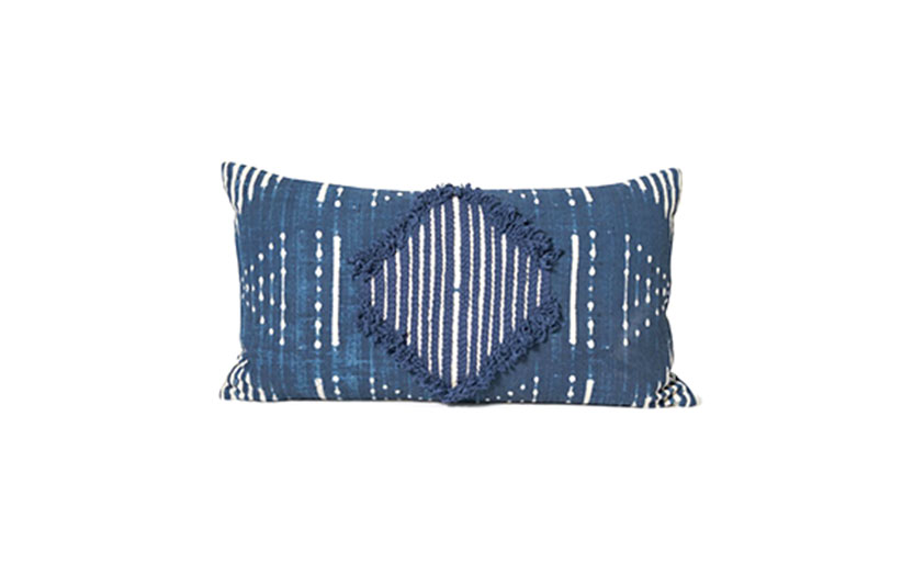 Allswell blue rectangular accent pillow