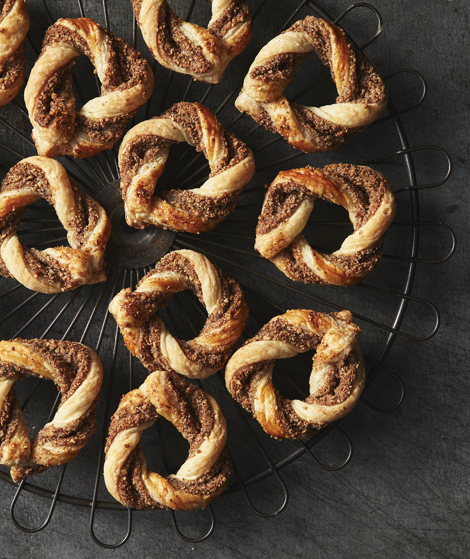 Puff Pastry Spiced Almond Wreaths