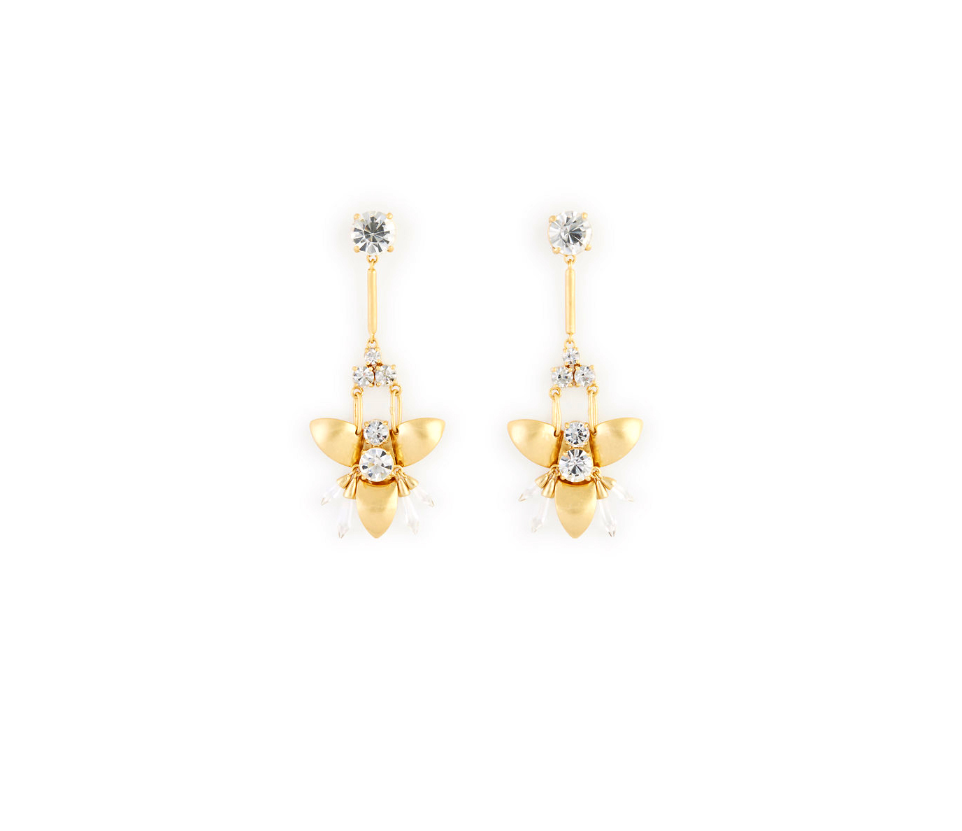 Abstract Floral Chandelier Earrings