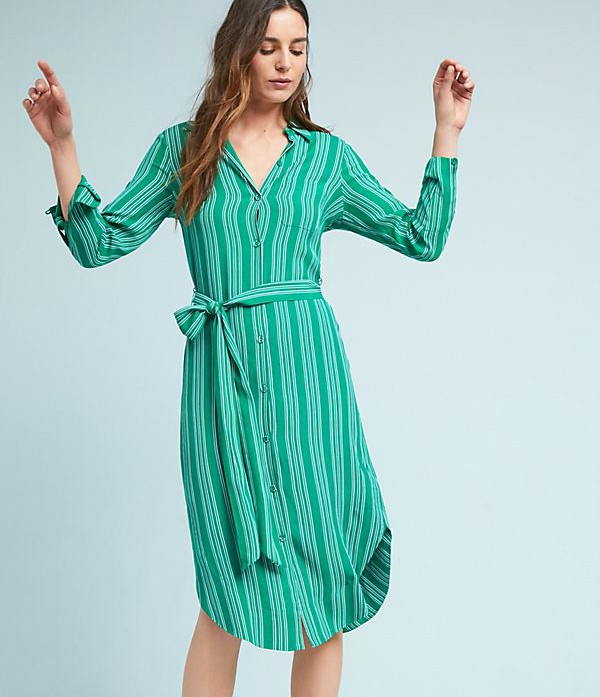 anthropologie belted shirtdress