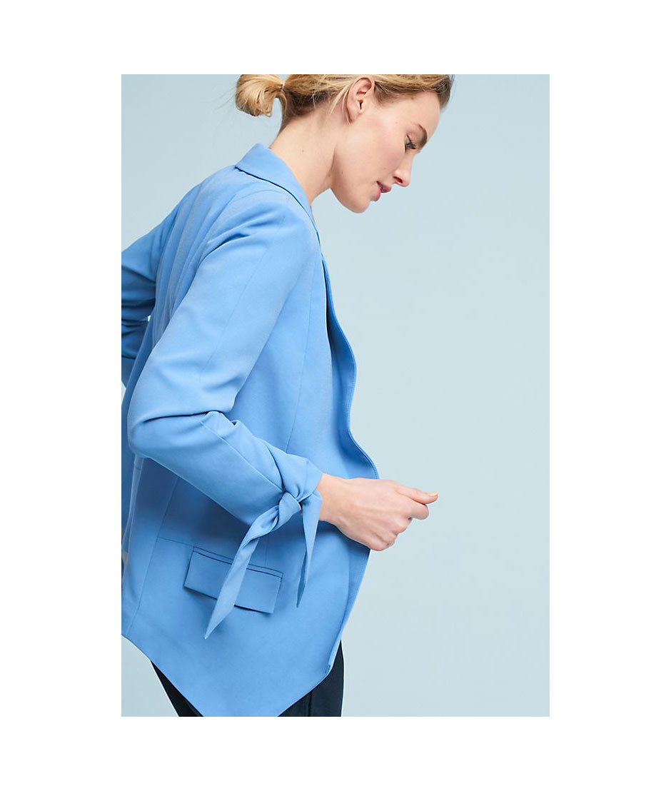 Anthropologie Sky Blue Blazer