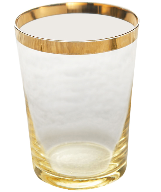 Anthropologie Gold-Dipped Tumbler