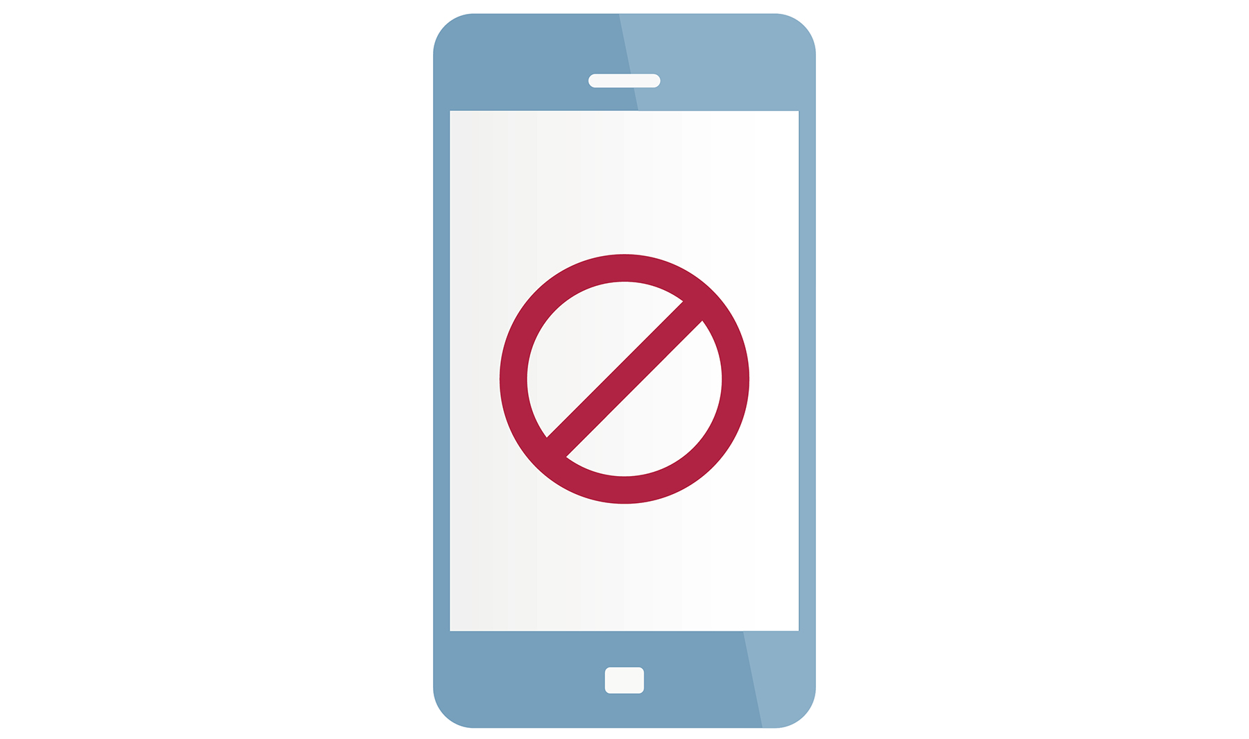 Ilustration: smartphone with anti symbol
