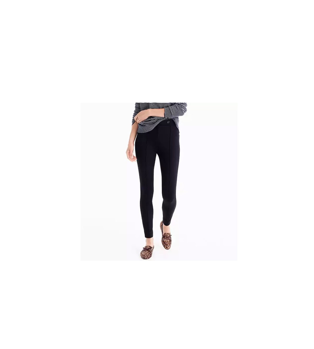 Tallbutton-front Any Day Pant in Stretch Ponte