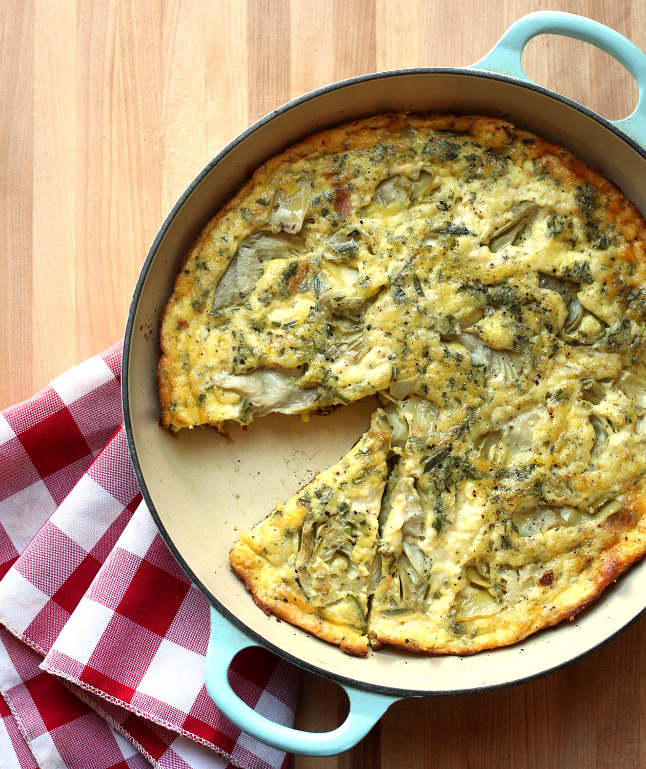 Artichoke, Rosemary, and Garlic Frittata