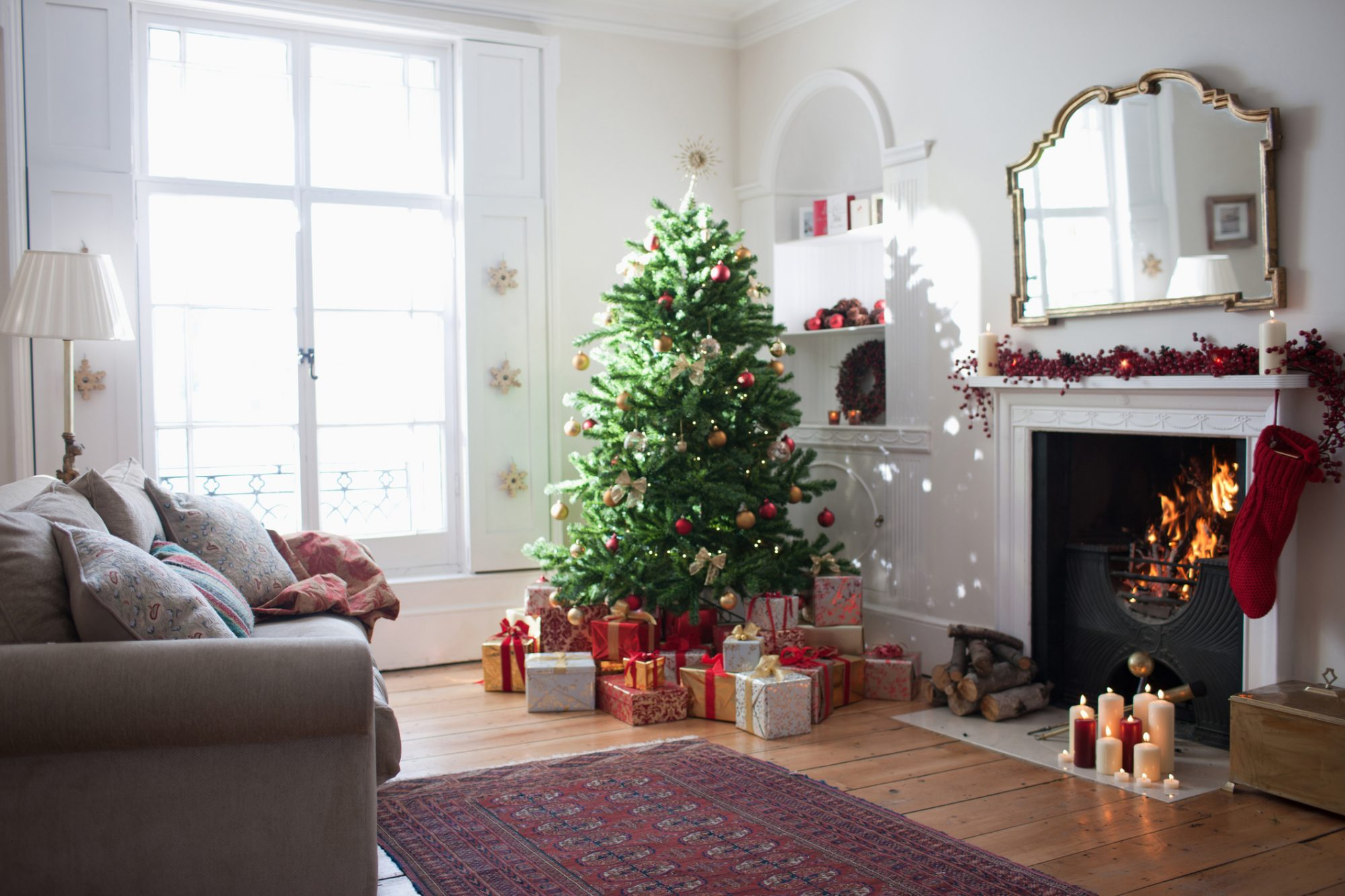 How to Make a Christmas Tree Last Longer, tree in living room
