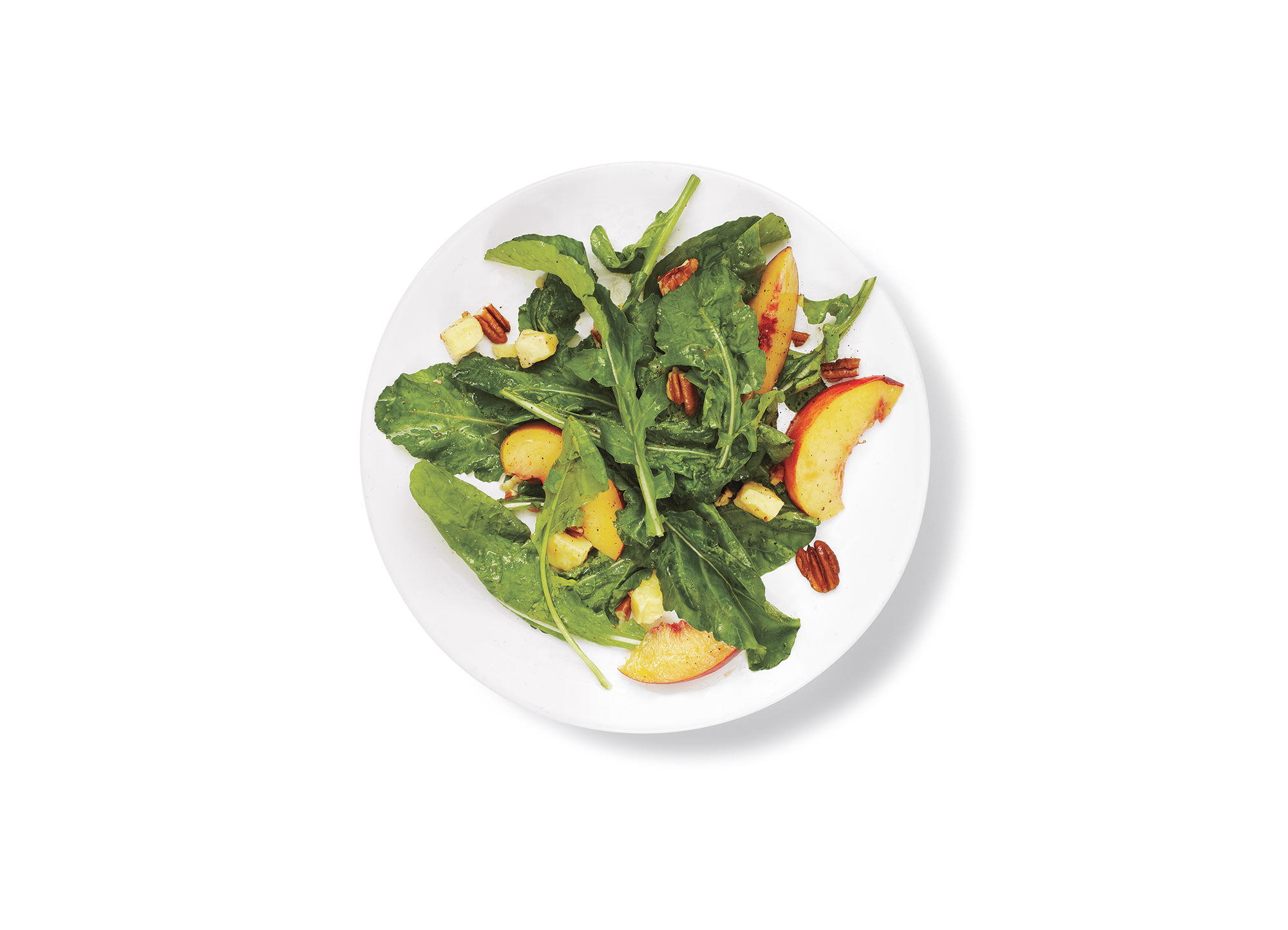 Arugula, Peach, and Cheddar Salad