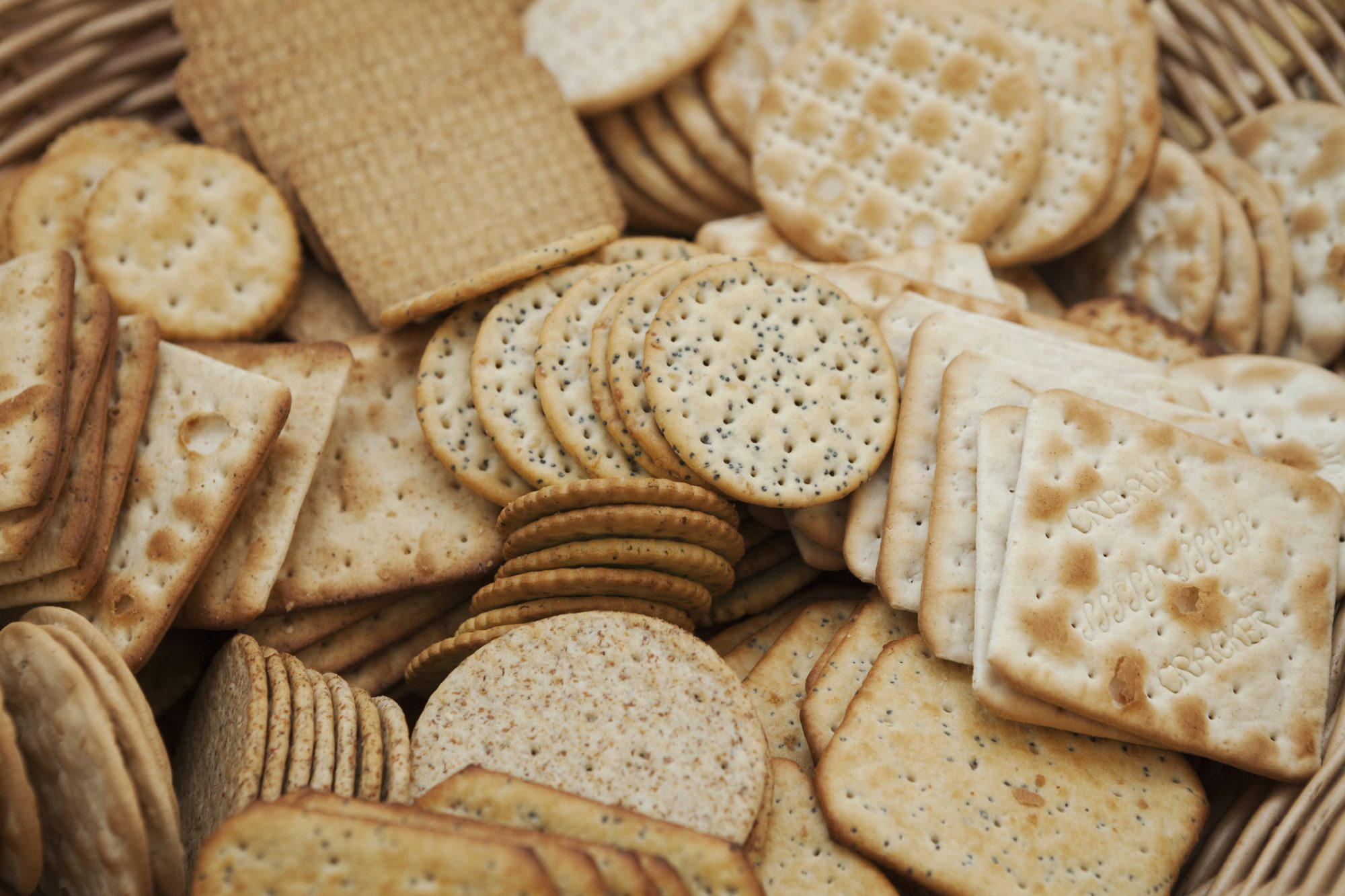 Assorted crackers, oscar party food