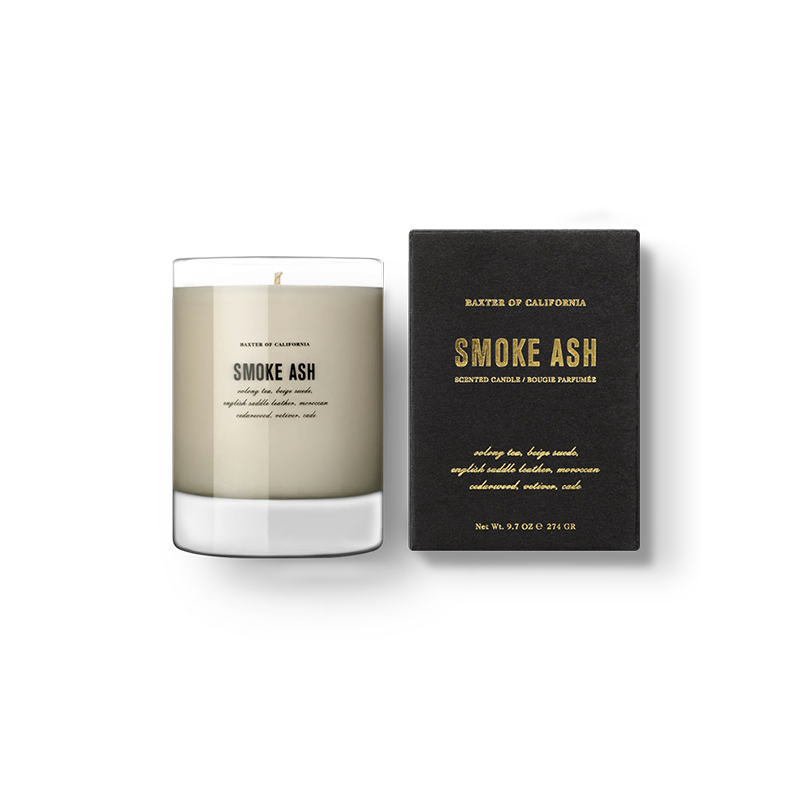 "Baxter of California ""FLAMMABLE"" Soy Wax Scented Candle: Ash Series"
