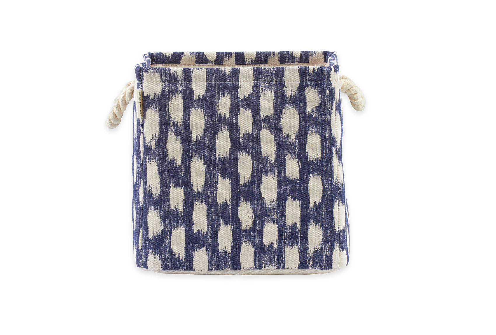Bed Bath & Beyond Real Simple Knock Down Storage Tote with Rope Handles in Blue