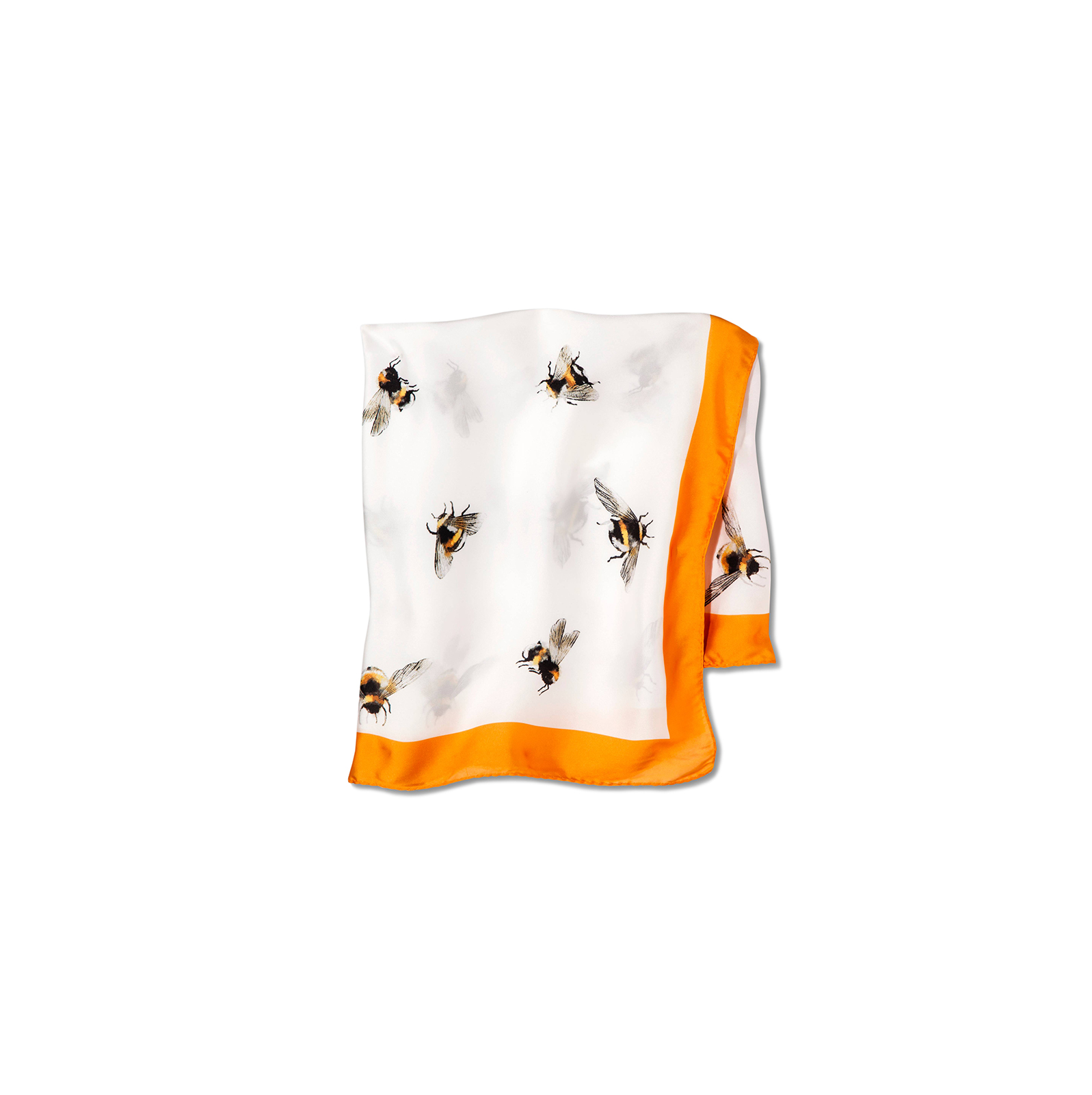 Bee Print Scarf with Marigold Trim