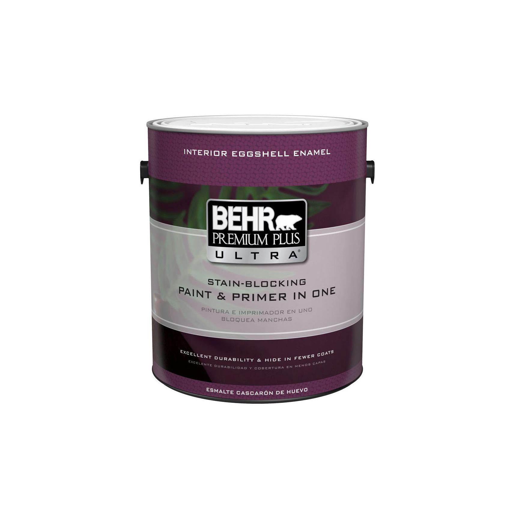 BEHR Premium Plus Ultra Pure White Eggshell Enamel Interior Paint