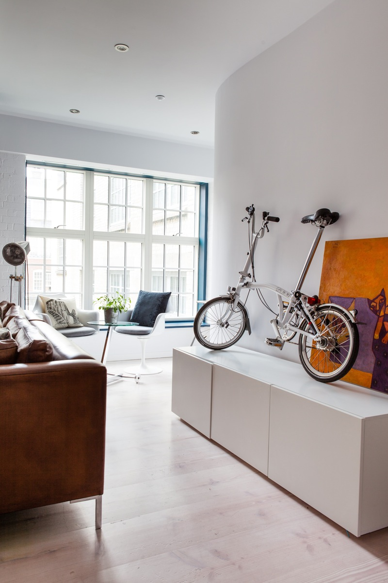 Bicycle on a credenza
