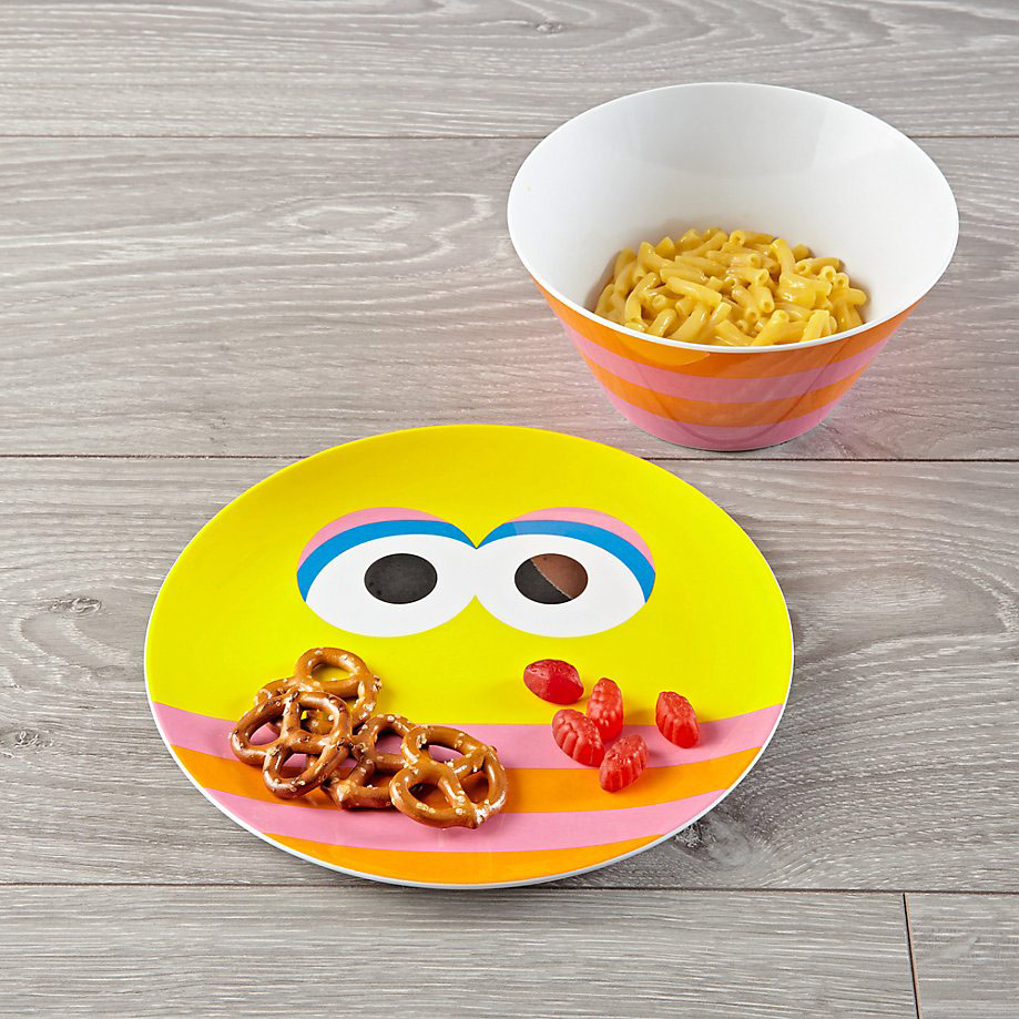 Big Bird Melamine Plate and Bowl Set