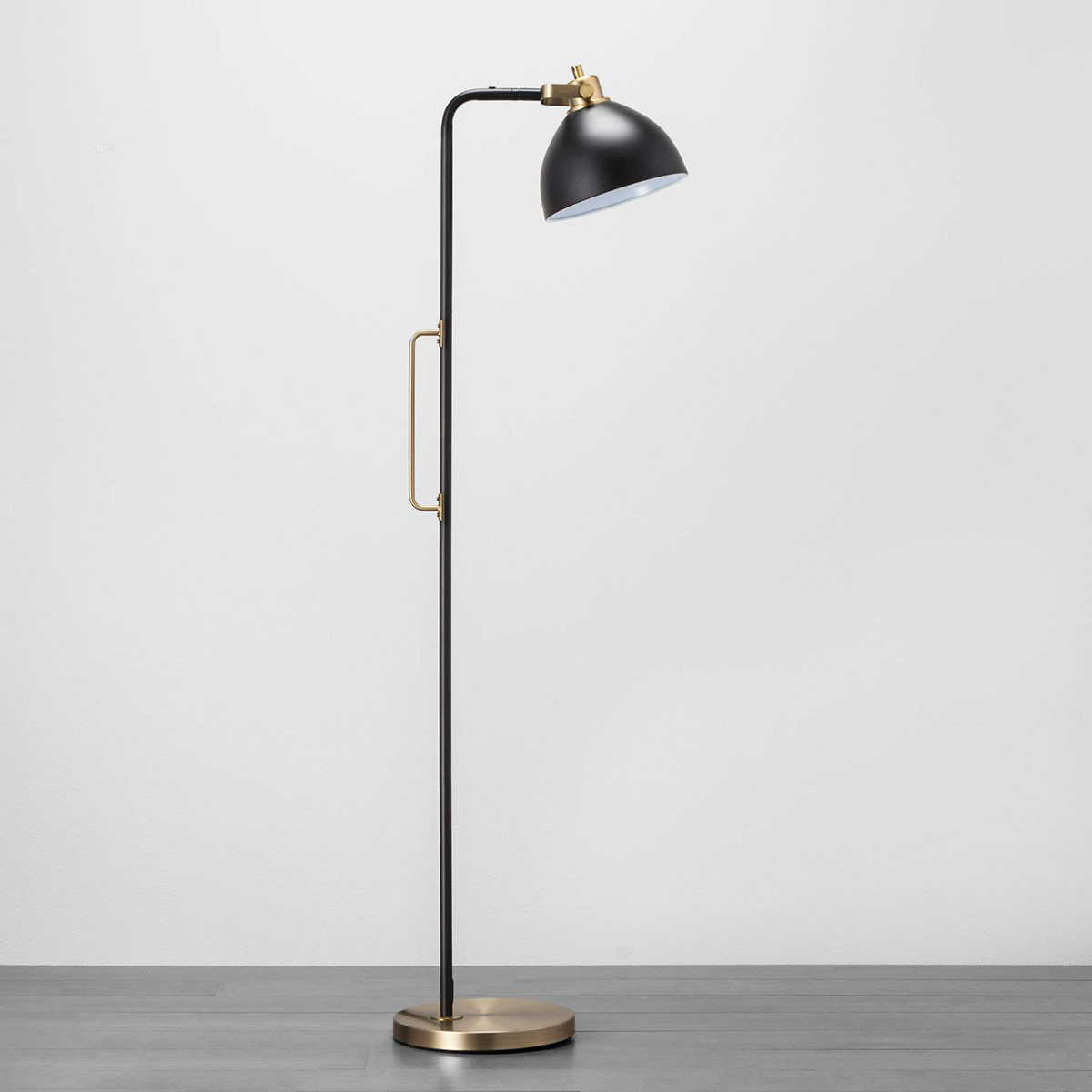 Black and Brass Floor Lamp