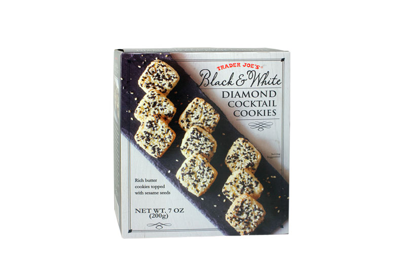 Black & White Diamond Cocktail Cookies