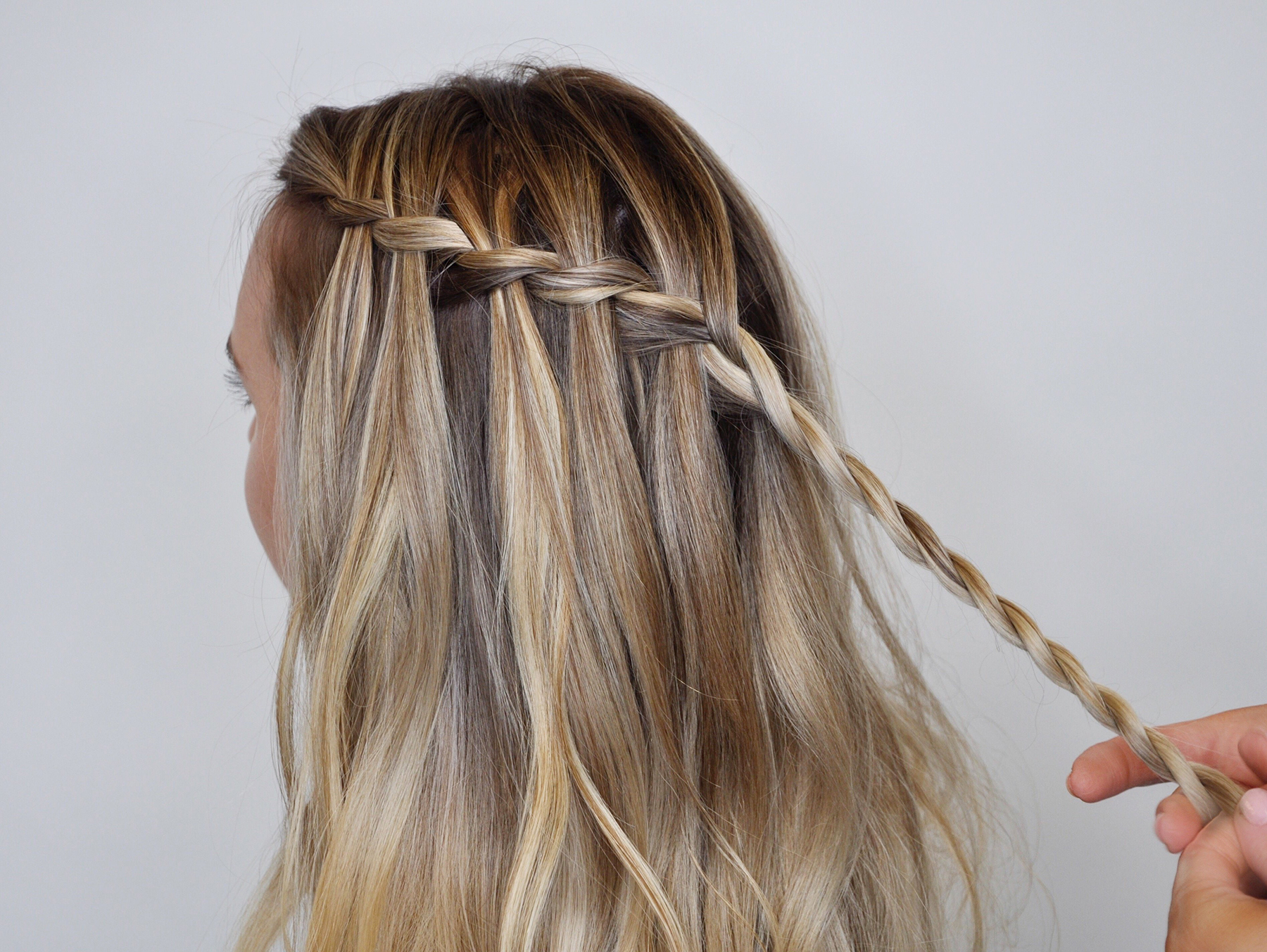 How To Do A Waterfall Braid Real Simple