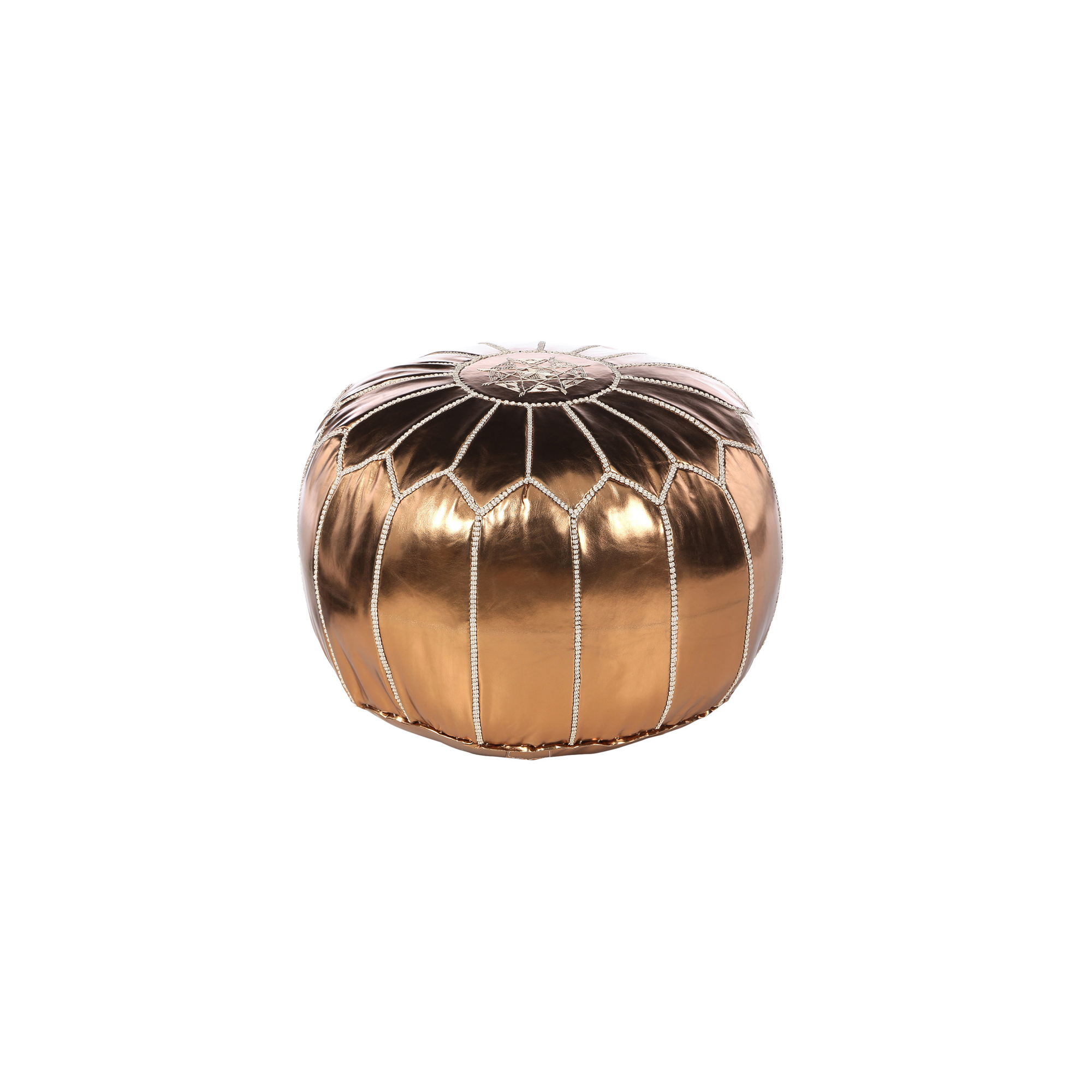 Dwell Studio Kids' Metallic Bronze Pouf