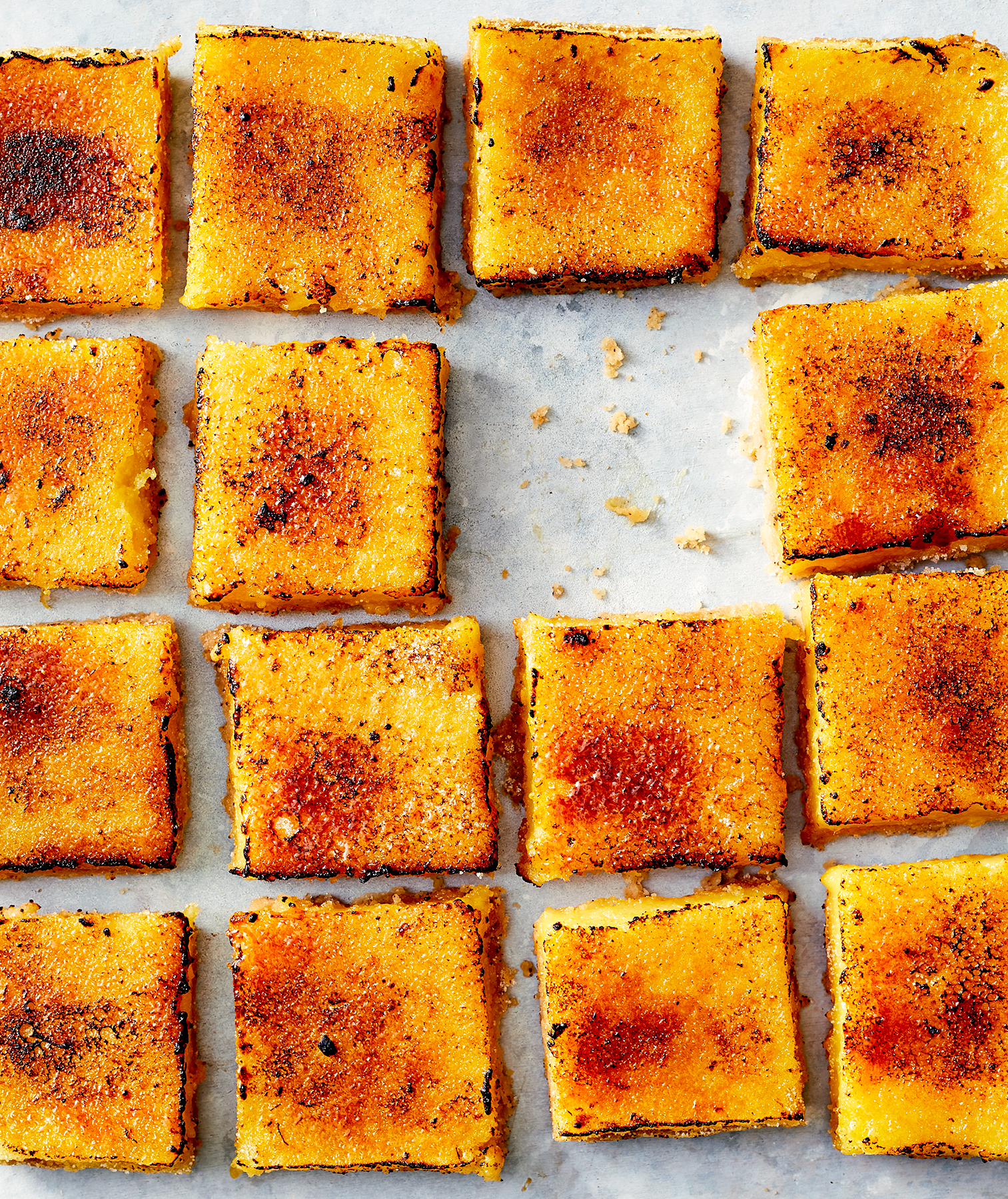 Bruleed Lemon Bars With Brown Butter Crust
