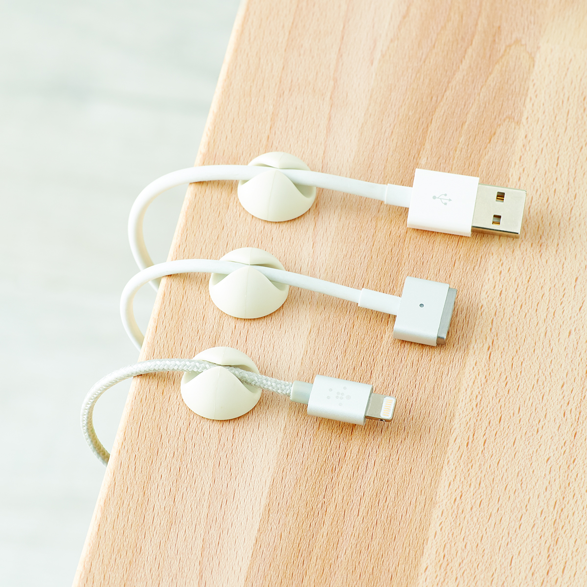 Stick-On Charger Clips
