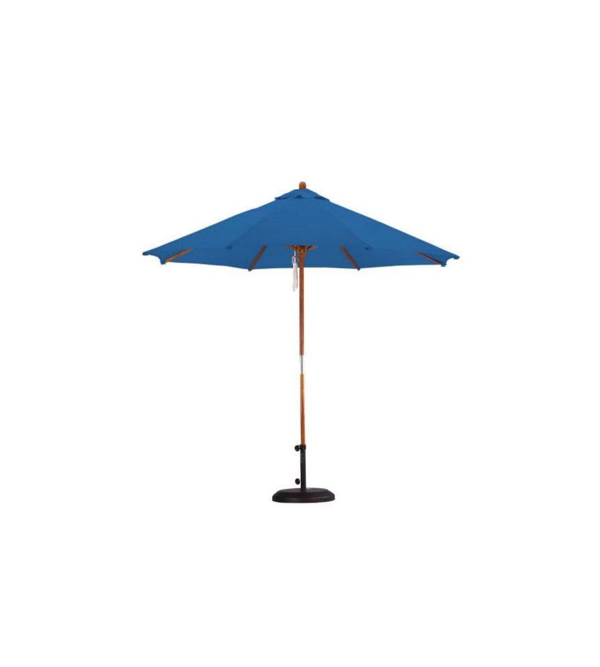 California Umbrella 9-Foot Wood Polyester Market Umbrella
